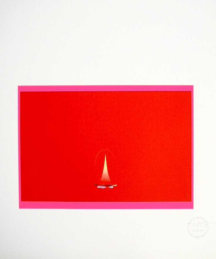 """The Flame,"" 1978.  Limited Edition.  22 1/4 x 24 1/2"""