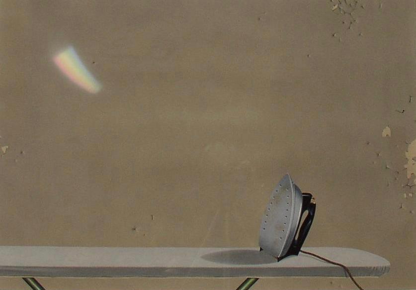 "Untitled, 1980. Gouache on rag board.  28 1/2 x 40"""