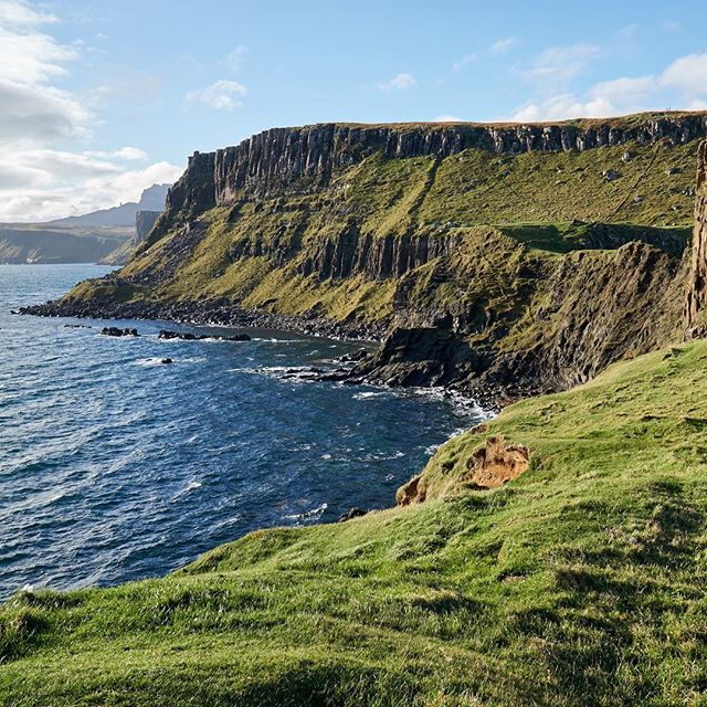 The views from Brothers' Point on the Isle of Skye were amazing! Check out our long overdue blog post on this awesome short hike. Link in bio. . . . #brotherspoint #rubhanambrathairean #cliffs #northsea #hiking #alltoourselves #isleofskye #isleofskyeofficial #scotlandisnow #visitscotland #scotland #goplaces #travellife #travellers #wanderers #welivetoexplore #travel #travelbug #travelislife #traveleurope #tlpicks #travelandleisure #wanderlust #adventurers #roadtrip #lifeisanadventure #travelblogger #travelling #awayontheroad
