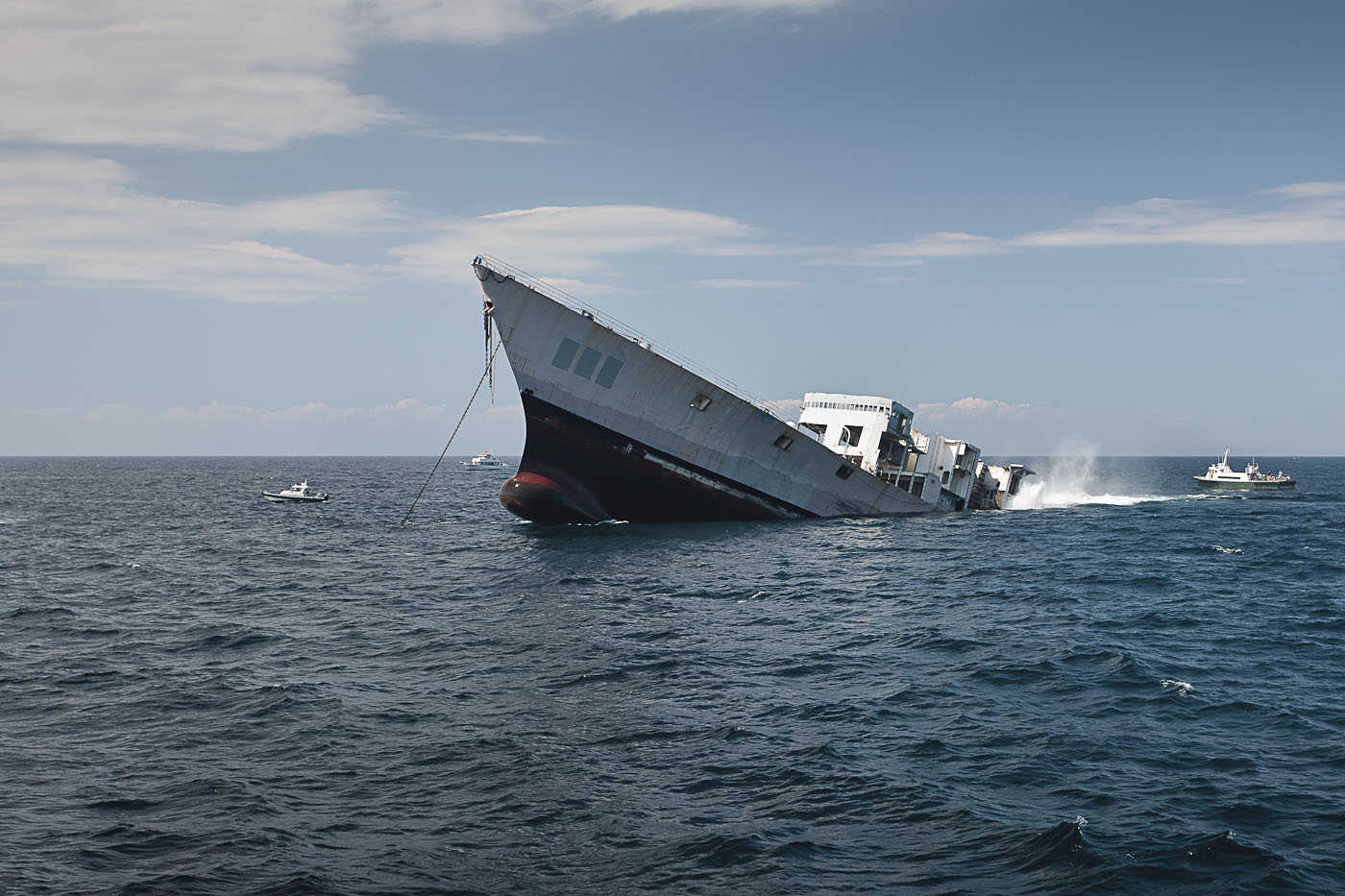 """The Reefing of the USS Radford"" C Print photograph"