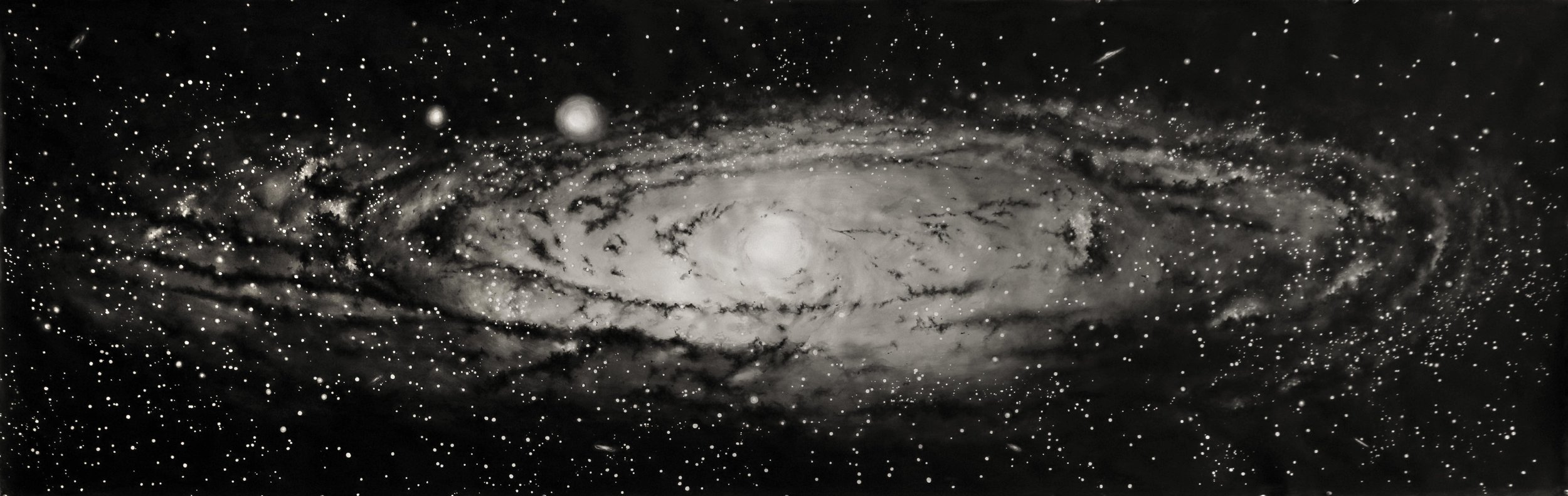 "Thomas Broadbent, ""Andromeda"" watercolor on paper, 44"" x 136"""