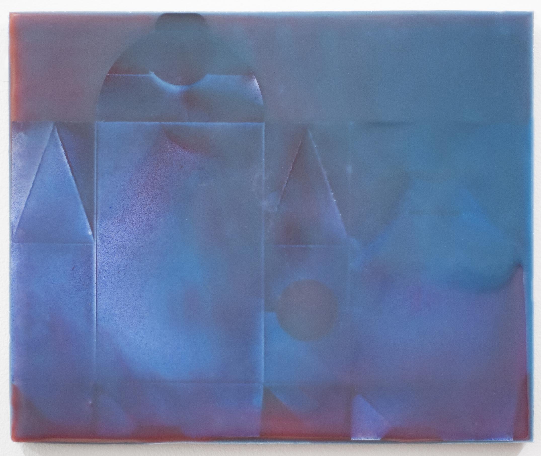 """Joanne Ungar, """"Aleias"""" (wax, board, paint, pigment) 12""""x 15"""""""