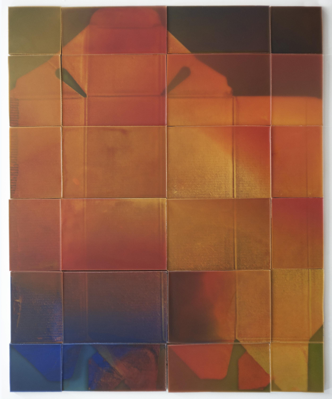 """Joanne Ungar, """"JWB"""" (wax, board, paint, pigment) 59""""x48"""""""
