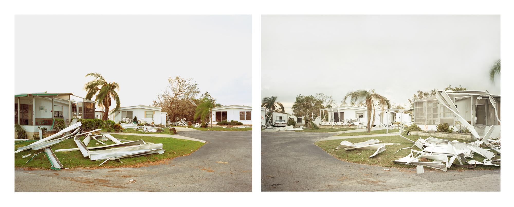 Sasha Bezzubov, Hurricane #4 diptych, Florida, 2006
