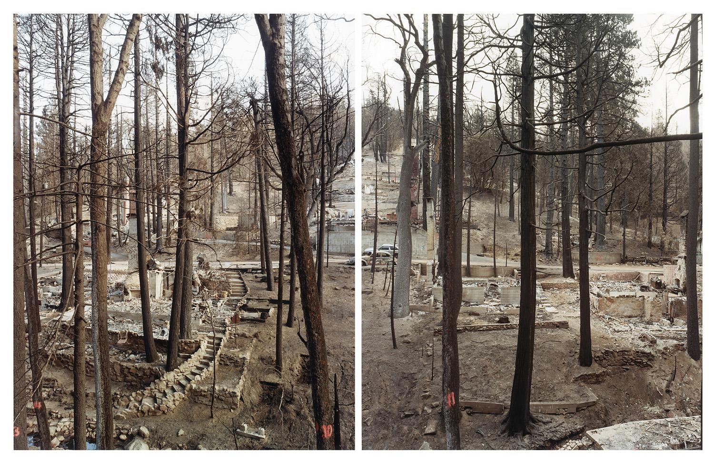 Wildfire #2a and Wildfire #2b, Old Fire, Cedar Glen, CA, 2003