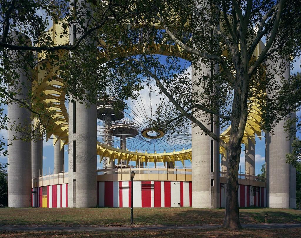 "Jade Doskow New York 1964 World's Fair, ""Peace Through Understanding,"" Philip Johnson's New York State Pavilion (fresh paint)"