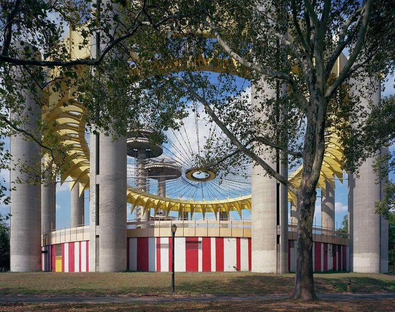 "Jade Doskow New York 1964 World's Fair, ""Peace Through Understanding,"" Philip Johnson's New York State Pavilion (fresh paint   )"