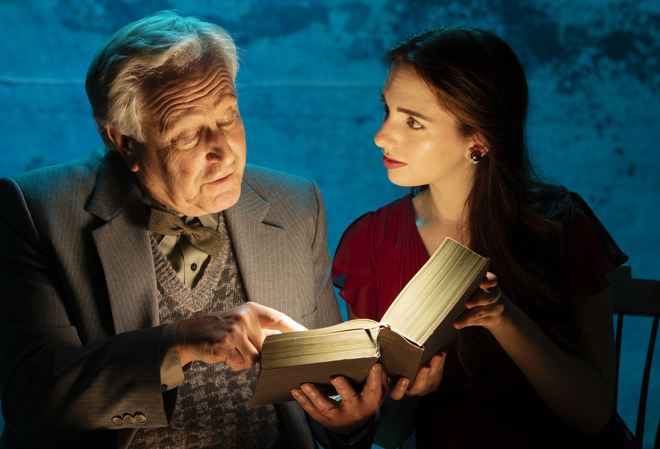 Bill Epstein (Father) and Kathleen Cannon (Eurydice) Photo by Tim Fuller