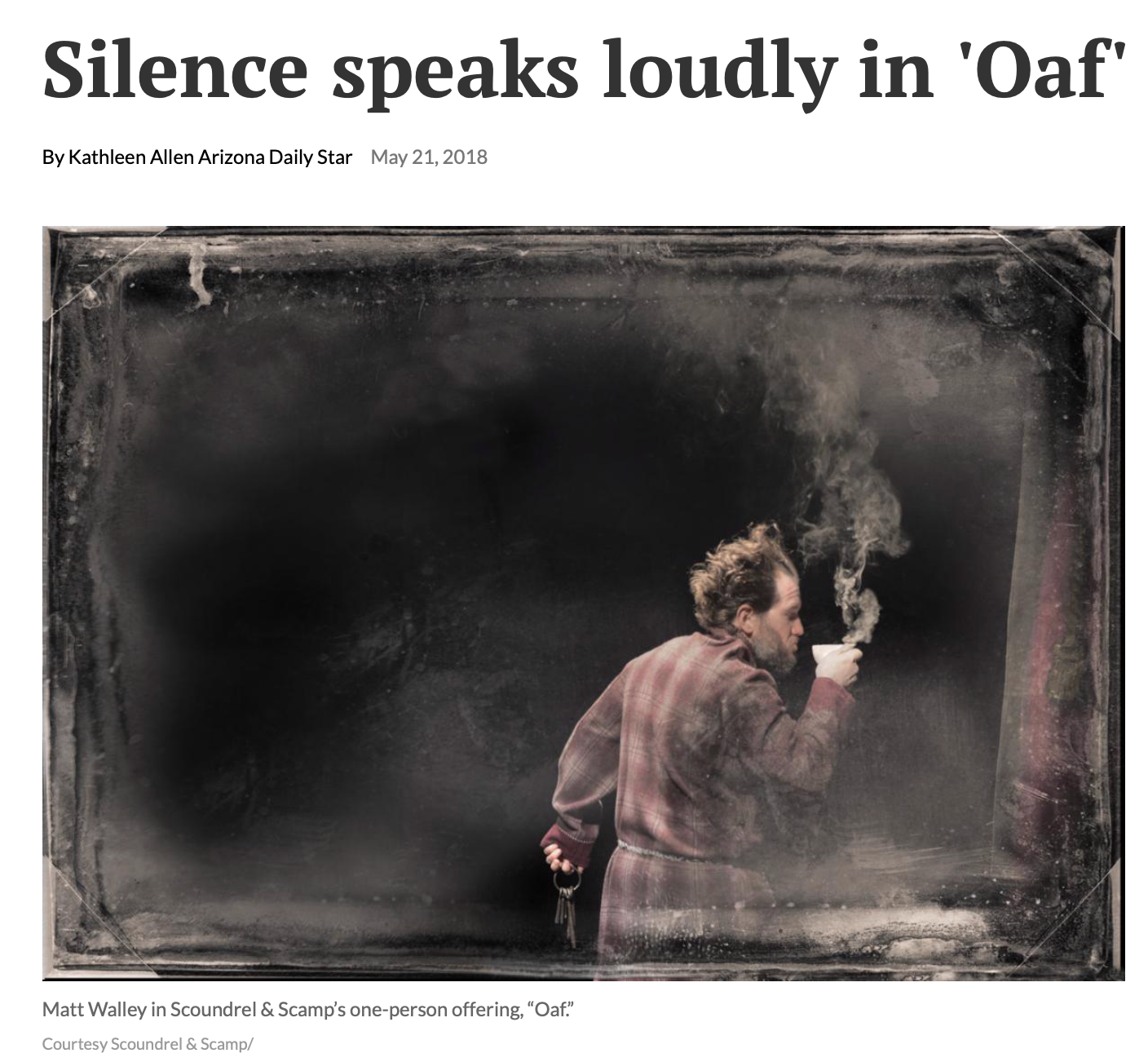 Silence speaks loudly in 'Oaf,'    Arizona Daily Star