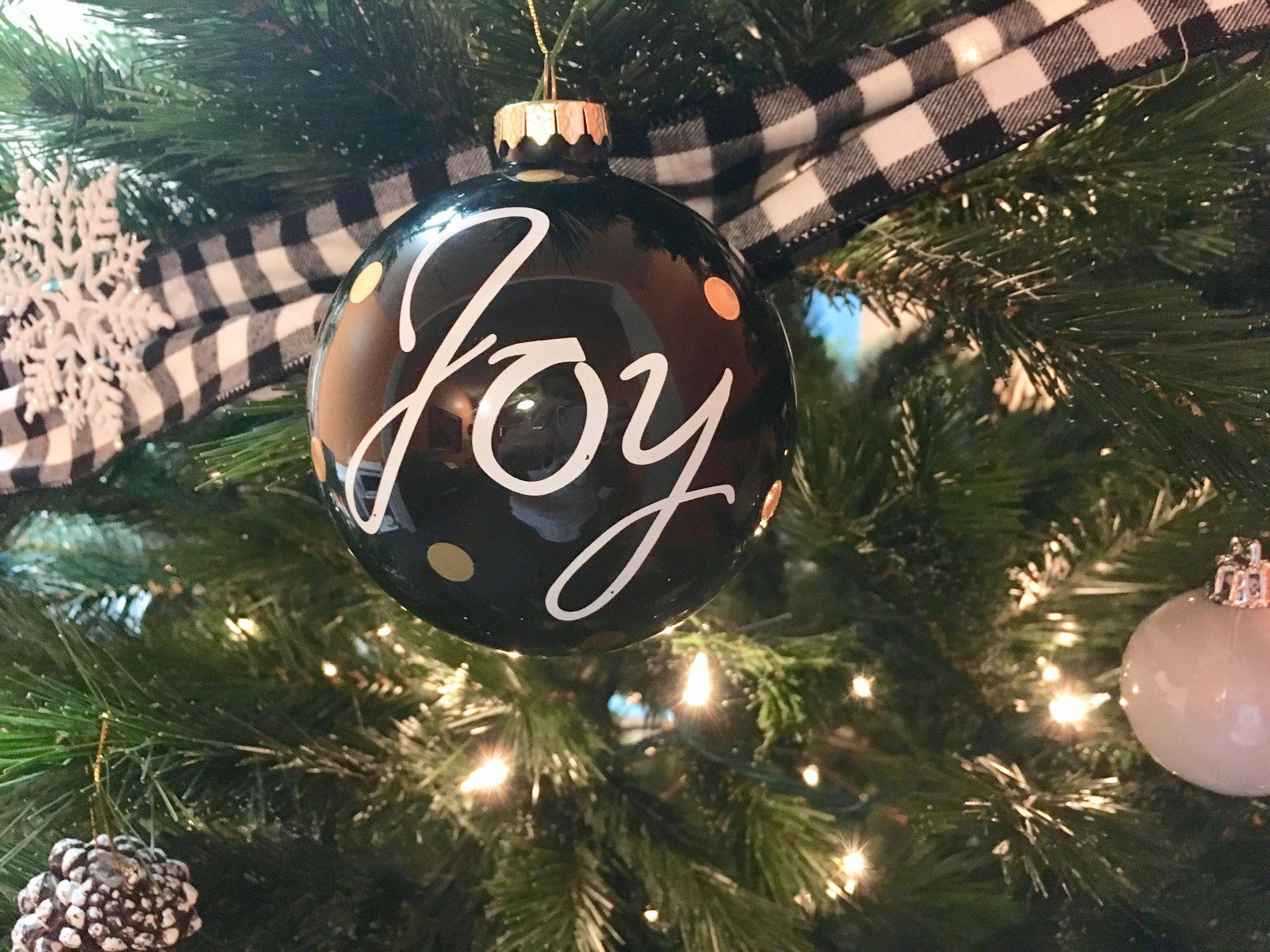 An image to express the spirit of Christmas... one of my very favorite ornaments on my music stuido's Christmas tree! Joy joy joy joy...