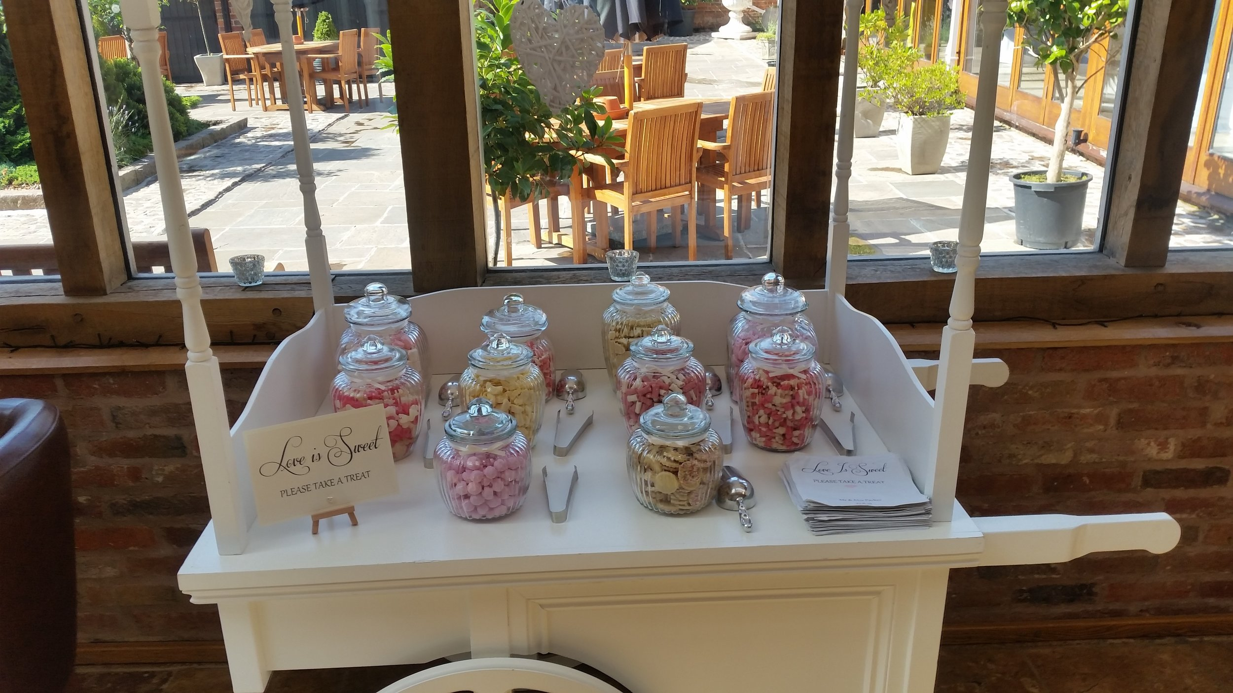 Swancar Farm Wedding Candy Cart