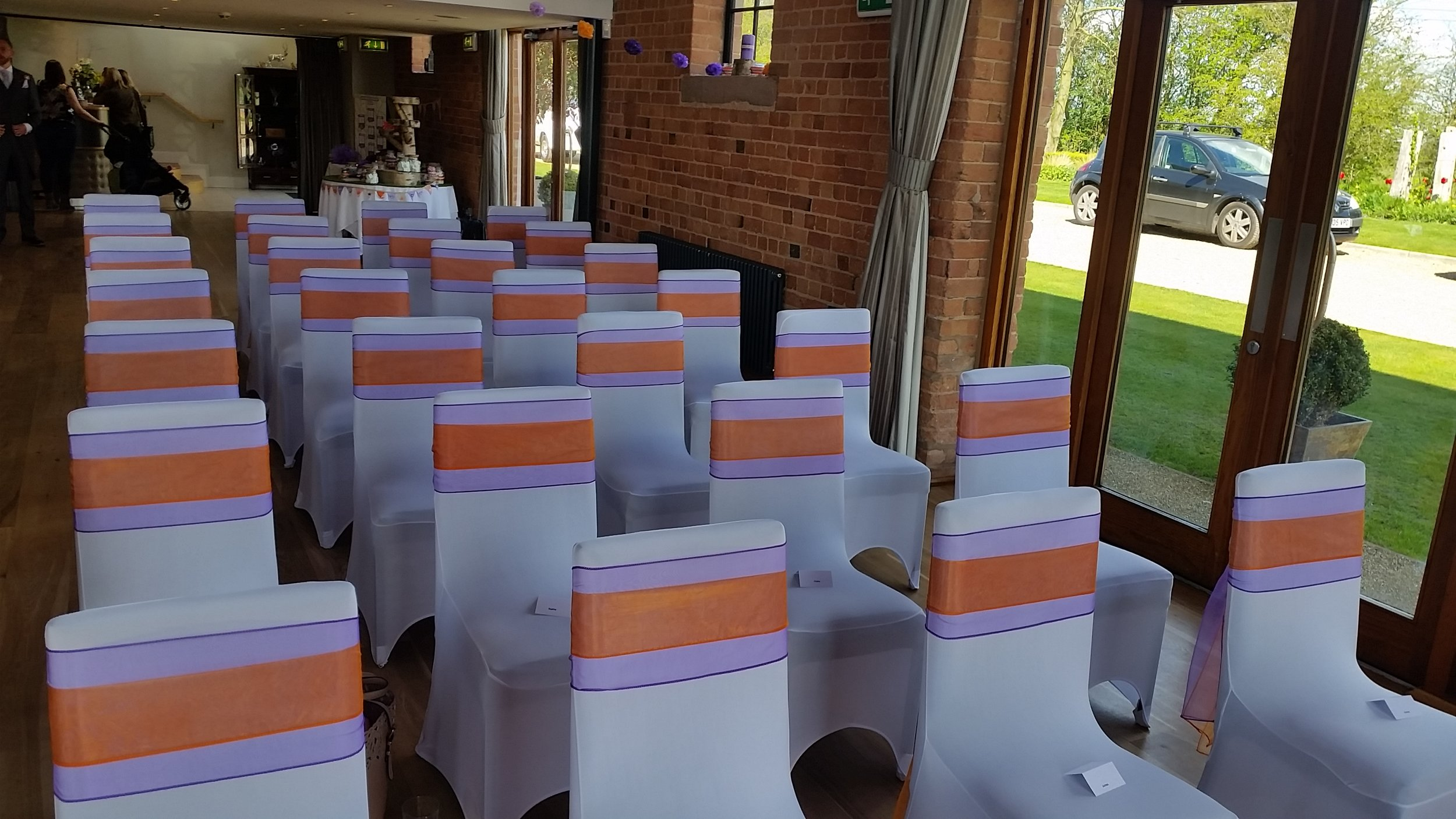 Wedding Chair Covers Nottingham, Derby and the East Midlands