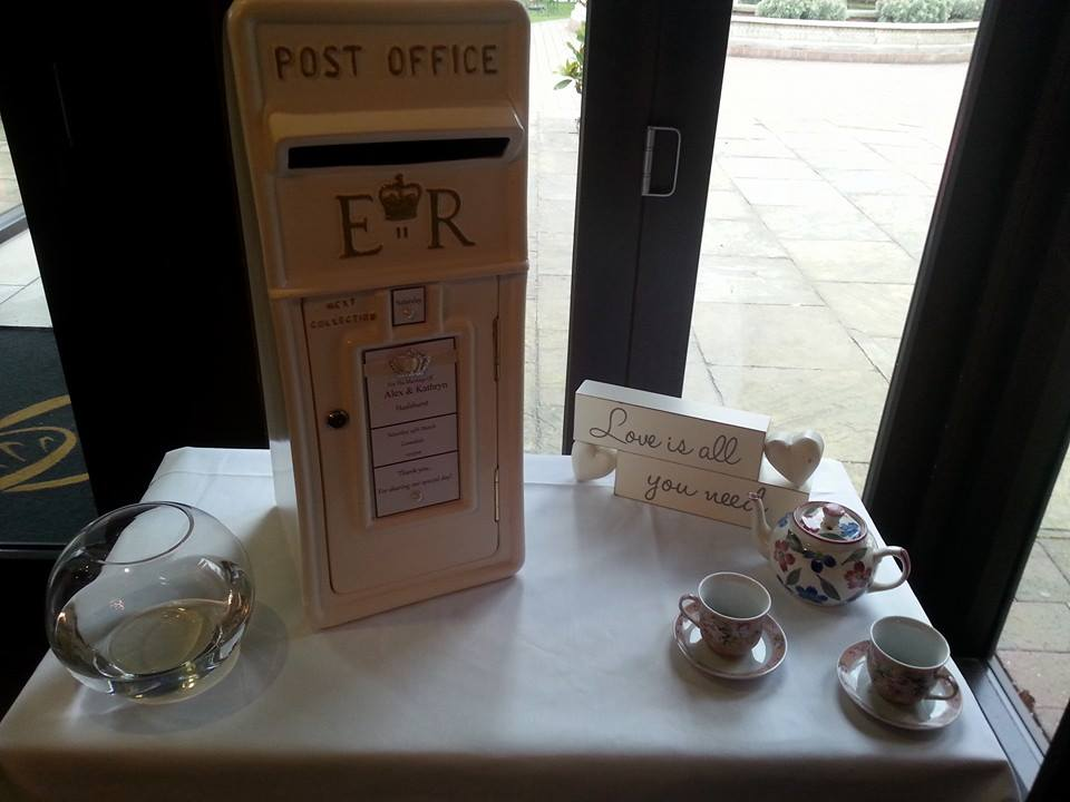 Royal Mail Wedding Post Box Hire Nottingham, Derby and the East Midlands