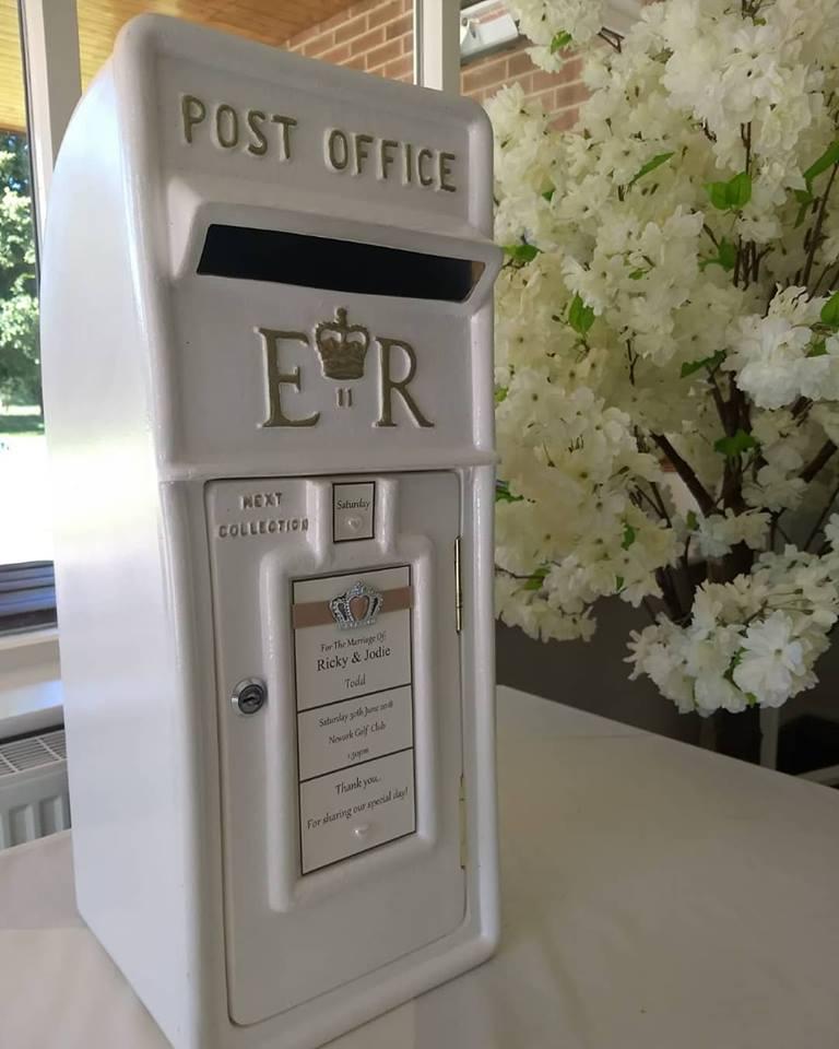 Wedding Post Box Hire Nottingham- Royal Mail Post Box