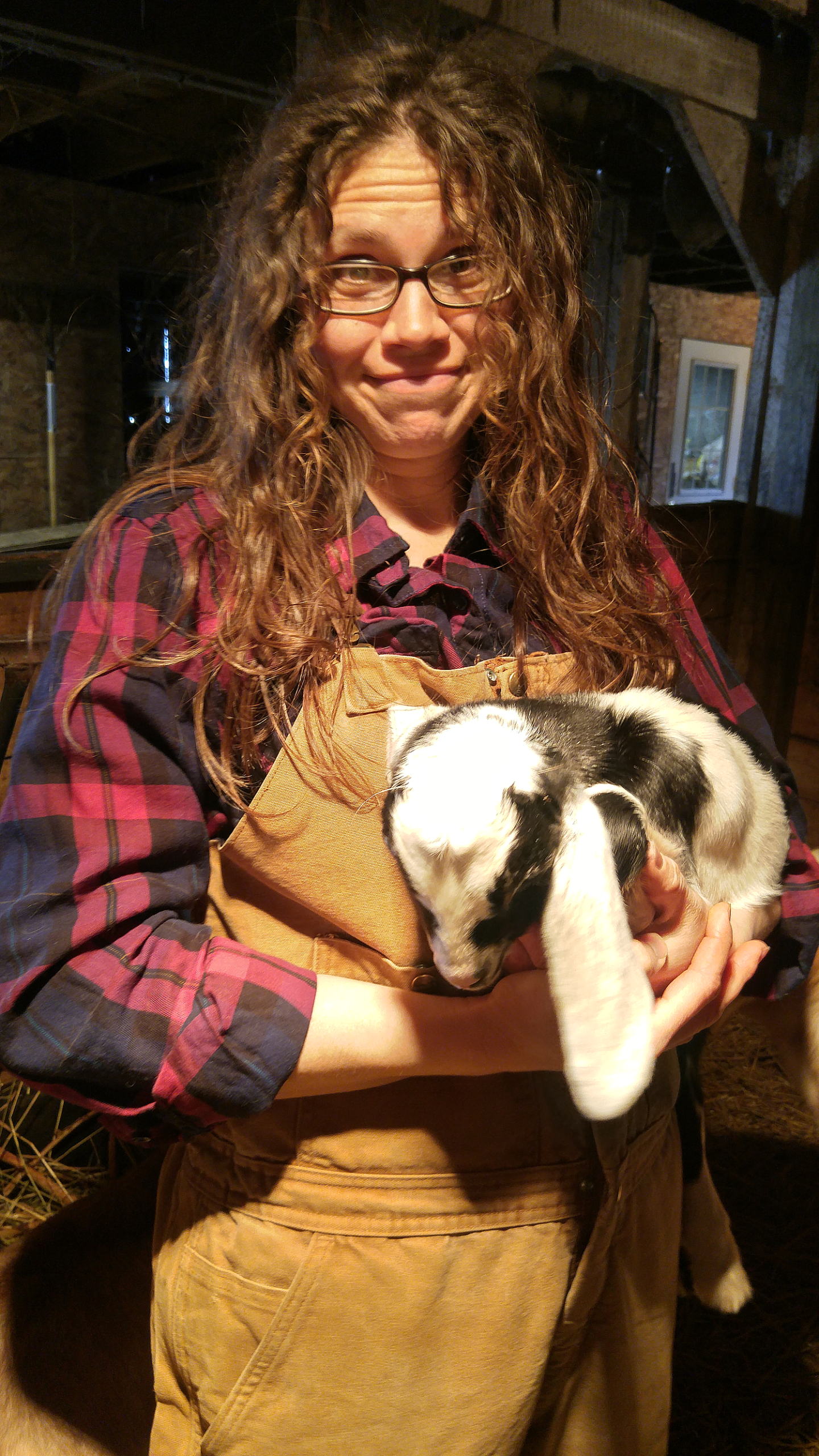 Yikes! Yeah, that's what you look like when your in the barn at 1AM for kidding season.