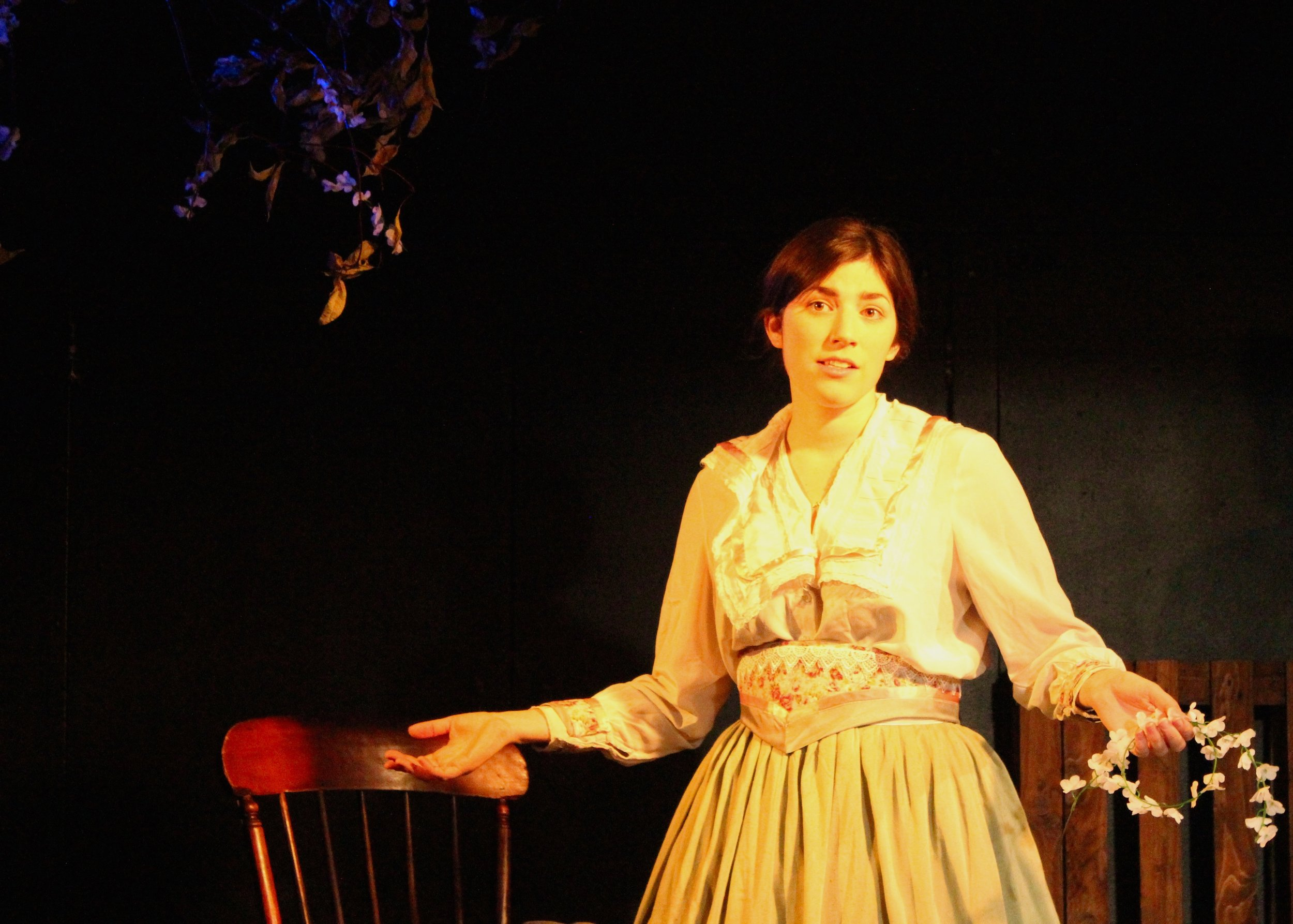 As Virginia Parker in Someone Found, Pleasance Theatre 2016. Photo Hannah Ellis