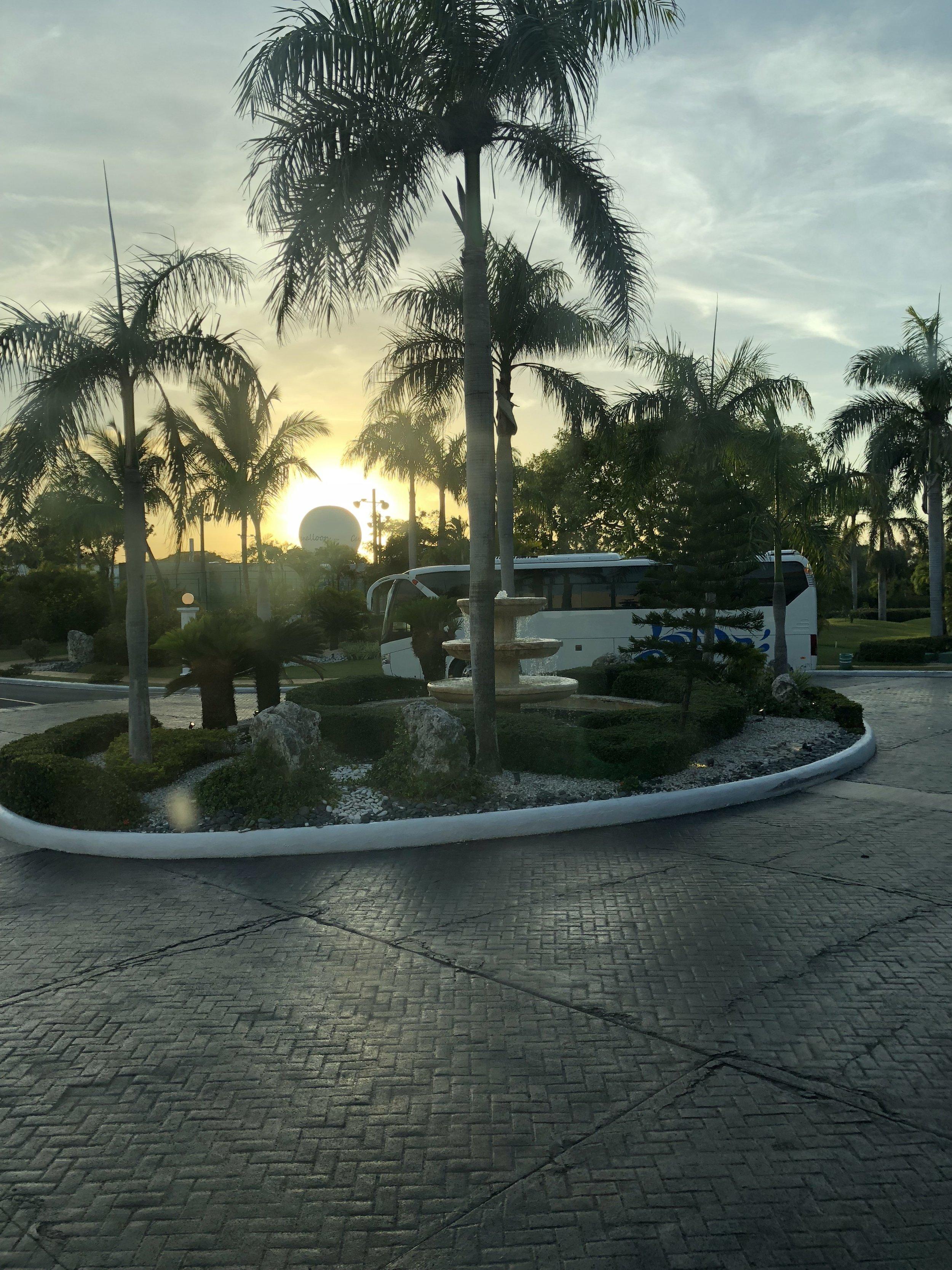 Sunset at the Caribe lobby.