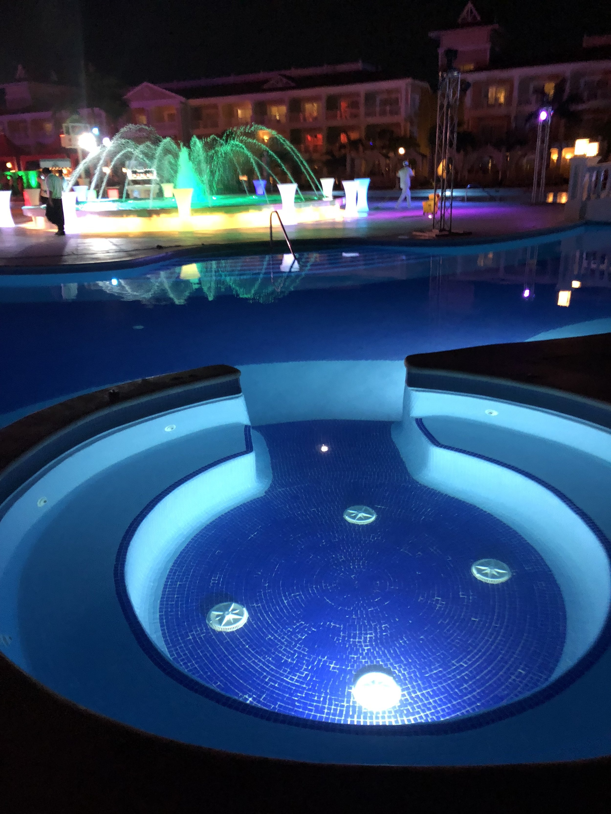 Part of the luxurious swimming pool.