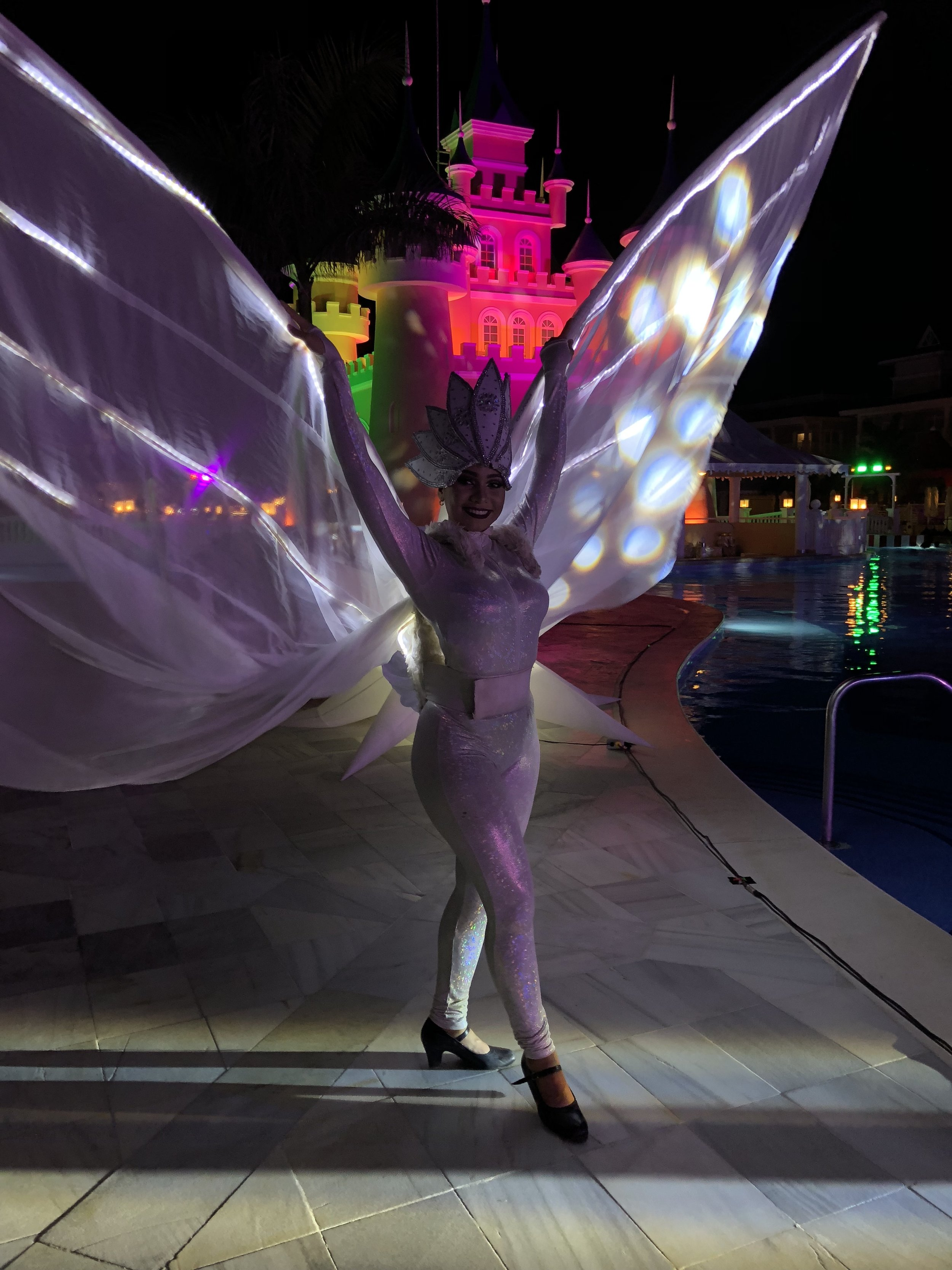 Spectacular costumes and entertainment.