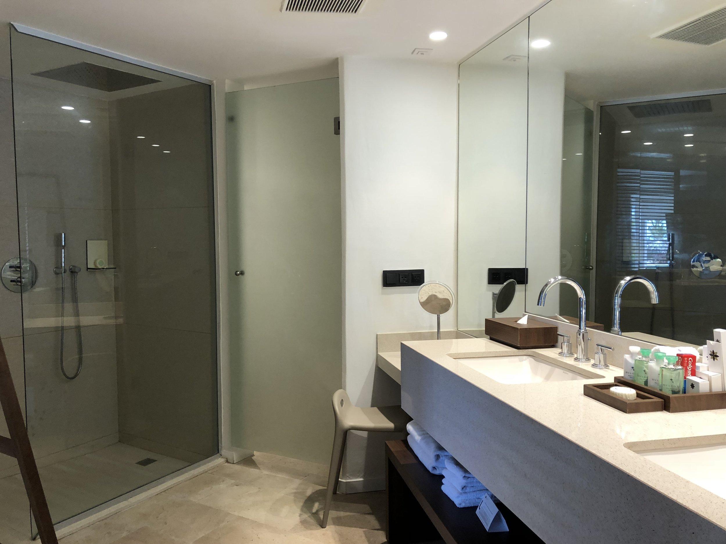 Room Type: Junior Swim up Suite with Deck  Huge bathroom.