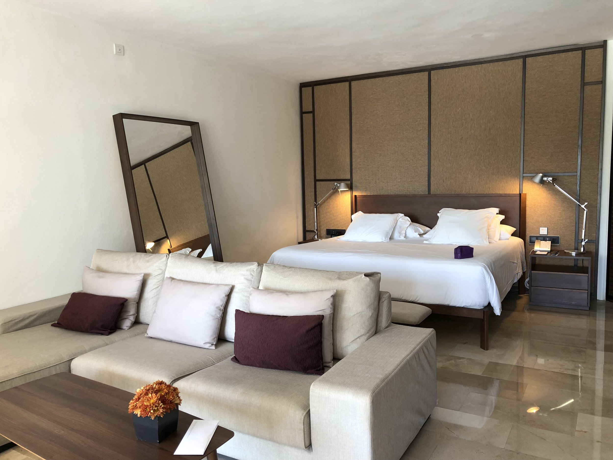 Room Type: Junior Swim up Suite with Deck  Spacious bedroom with a king size bed.