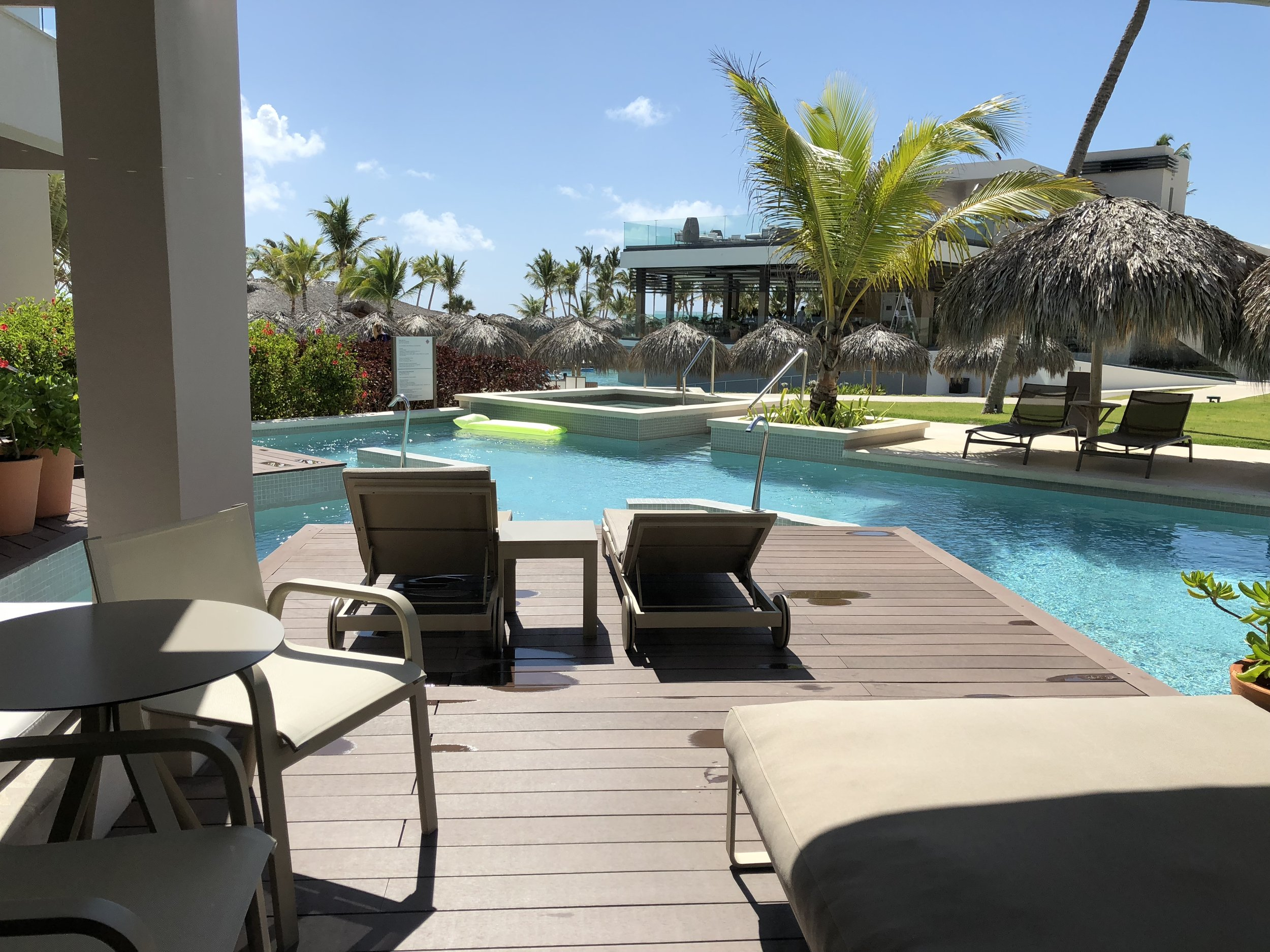 Room Type: Junior Swim up Suite with Deck  The view from your patio.