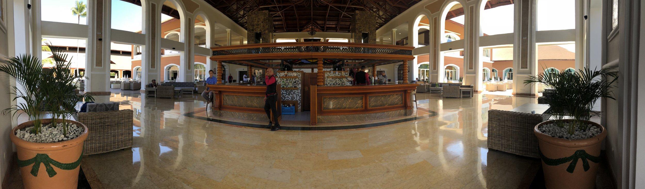 Main lobby bar on the lower level.