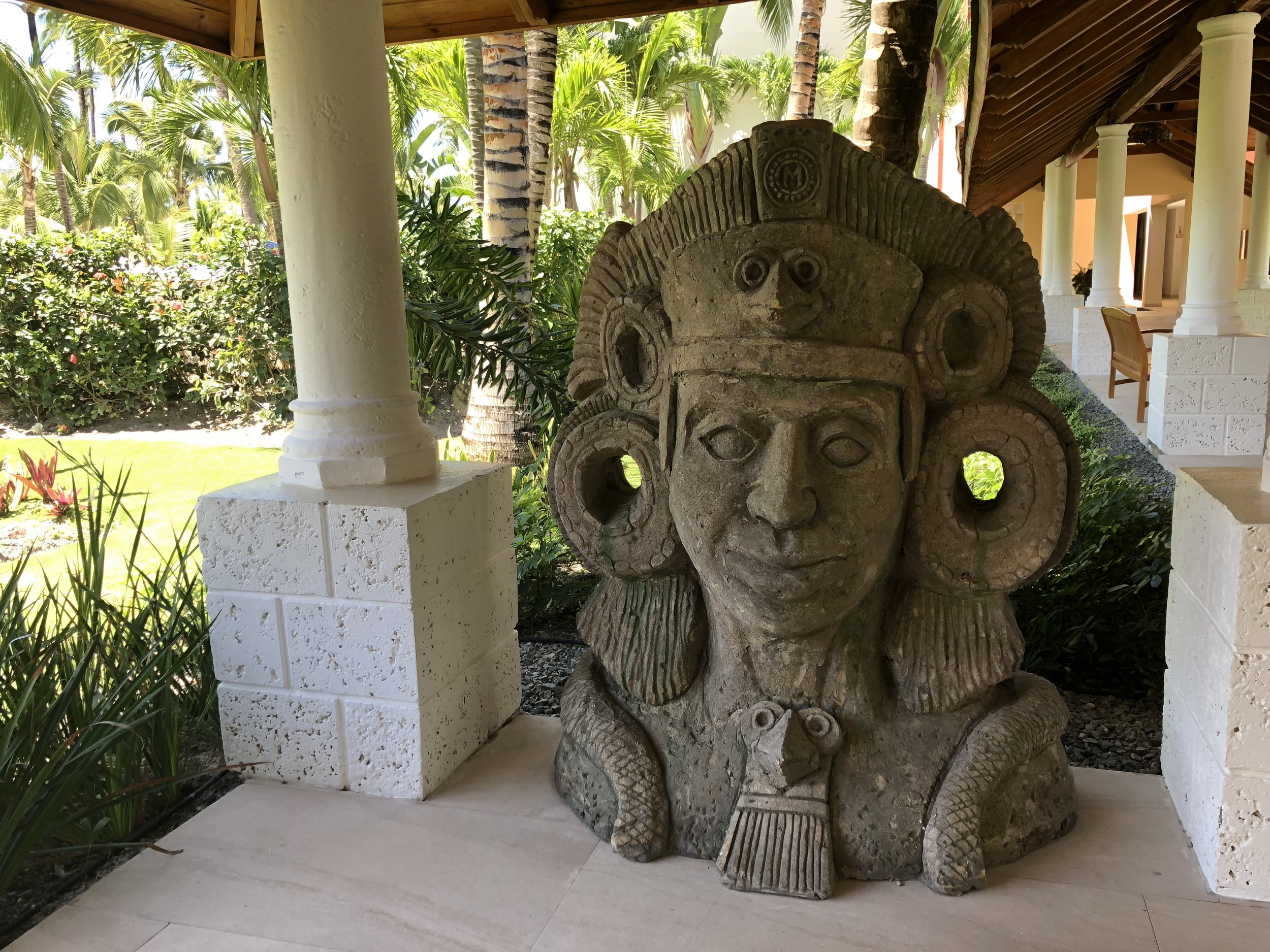 Lots of colonial statues around the resort.