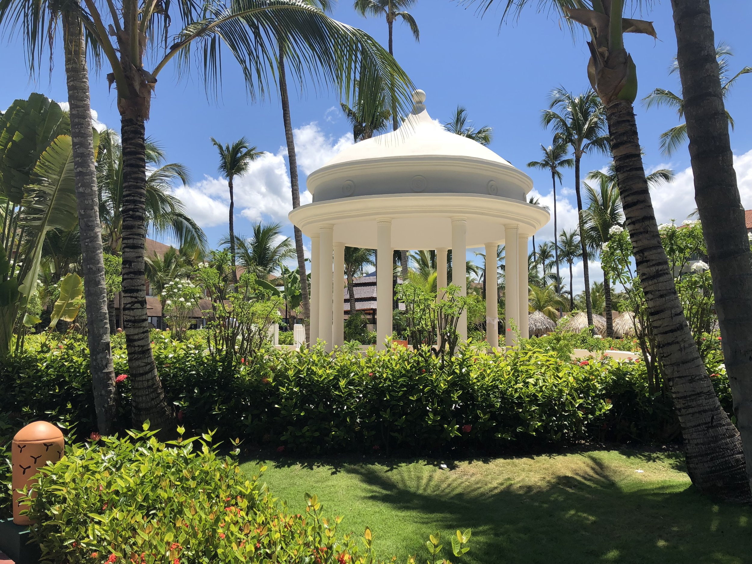 There are two gazebos on the property; one in the garden and one on the beach.