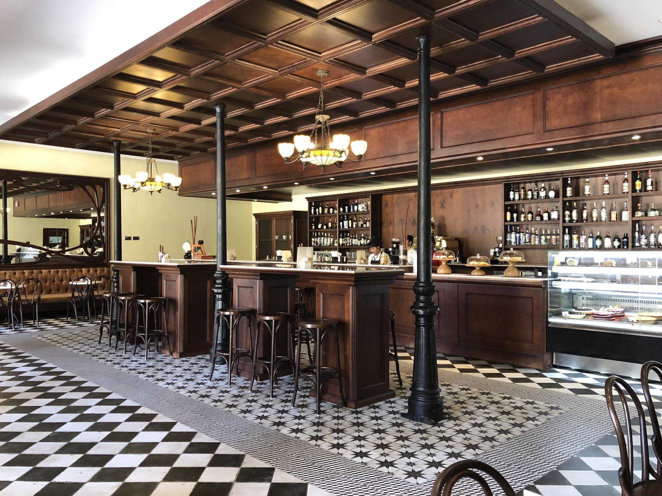 "Coffee shop ""Cafe Espanol"" and snack bar."