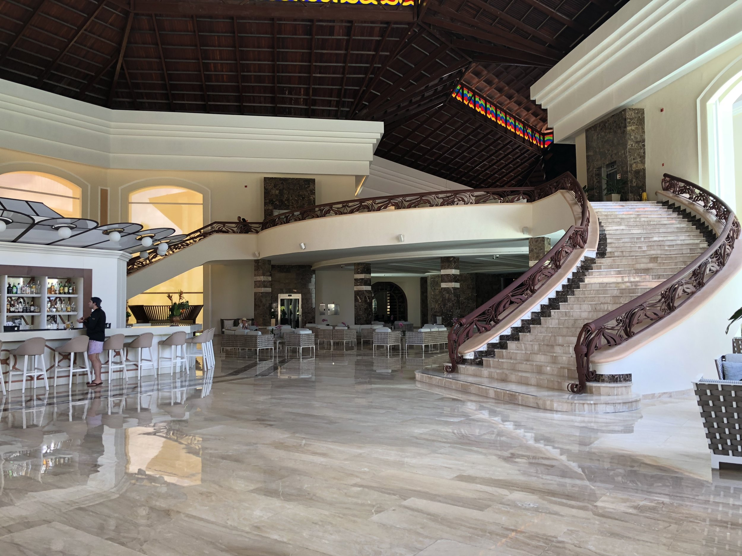 The stairs in the main lobby.