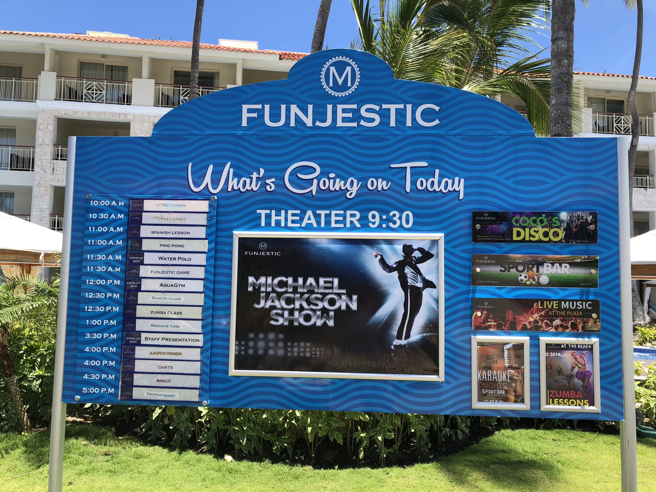 Funjestic board tells you what shows are on for the day.