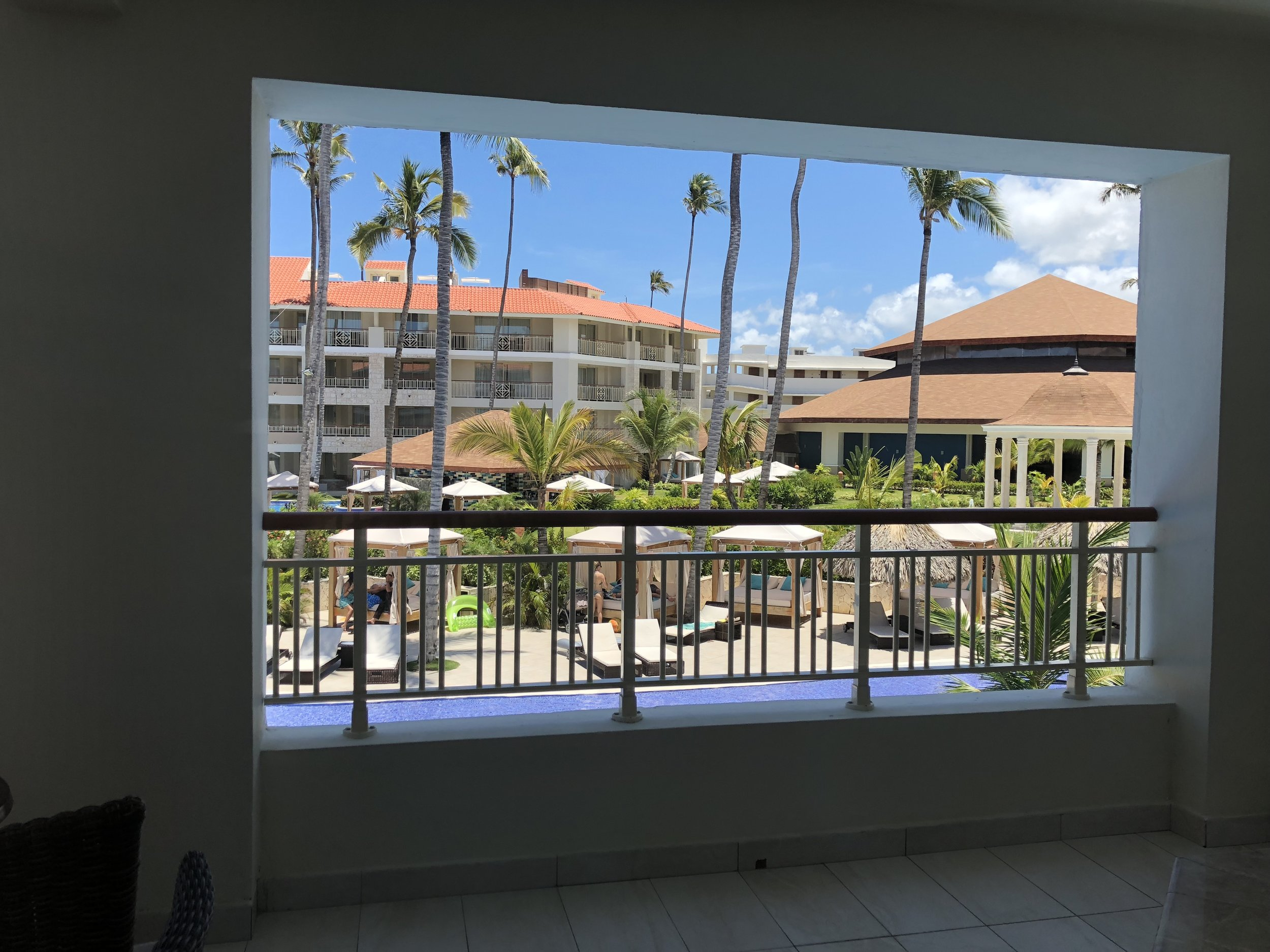 Room Type: One Bedroom Suite with outdoor Jacuzzi.  Your pool view from the other side of your suit.