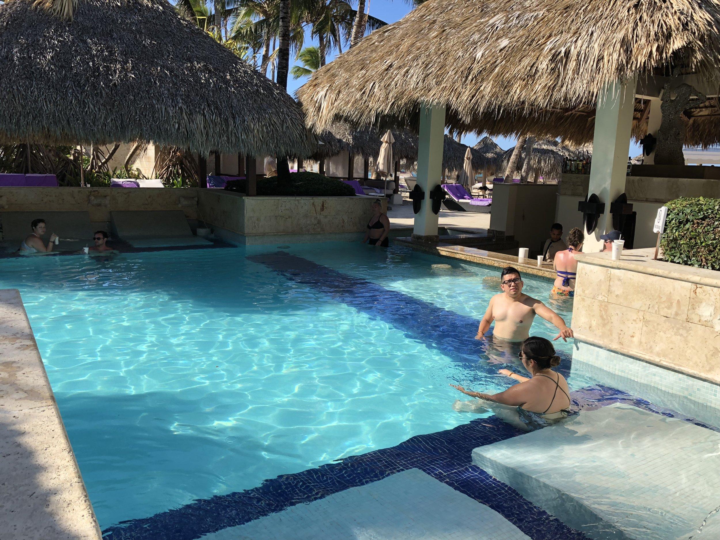 Main pool and bar.