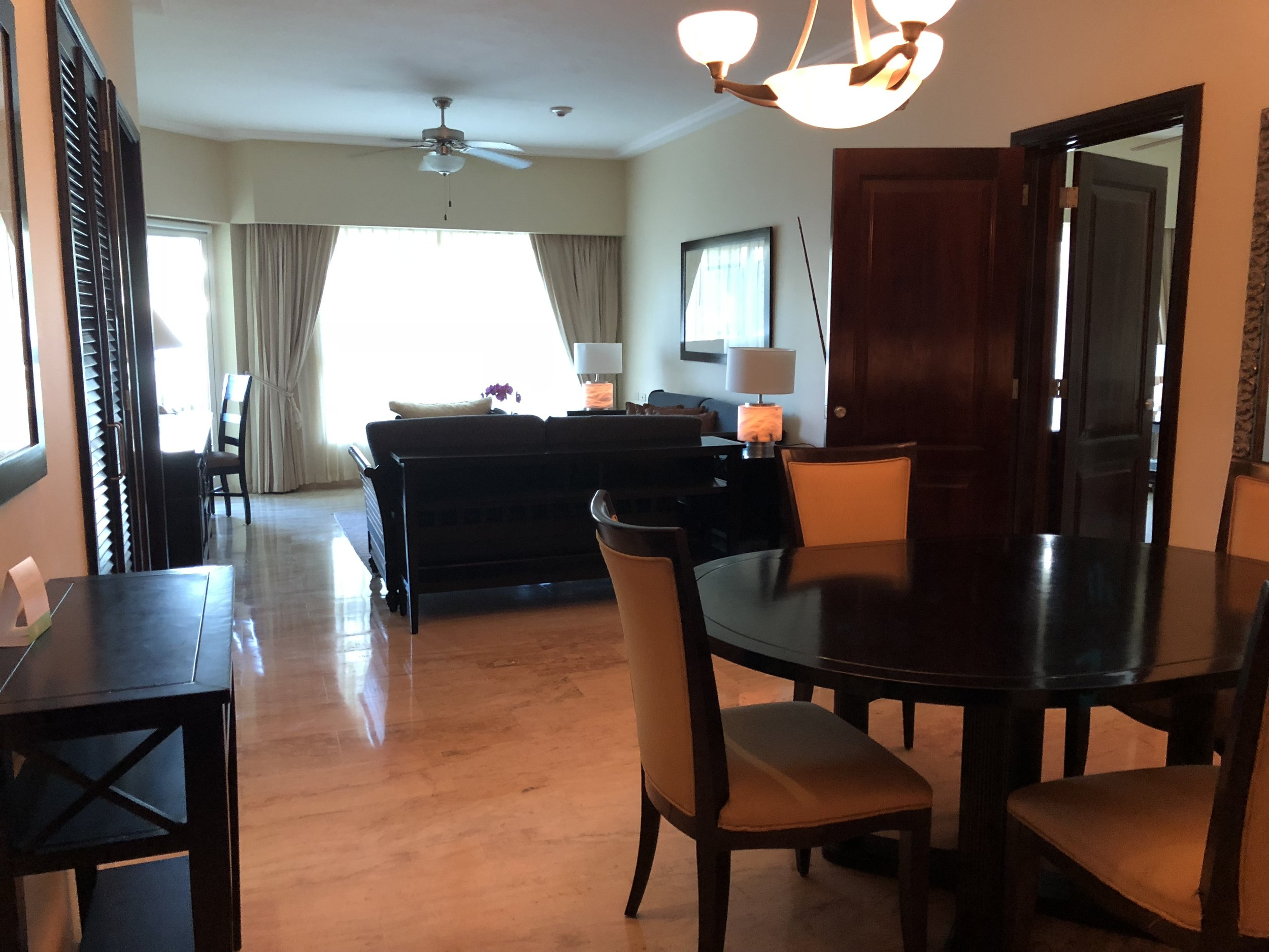 Room Type: Two Bedroom Master Suite  Dining area and lounge within your two bedroom suite.