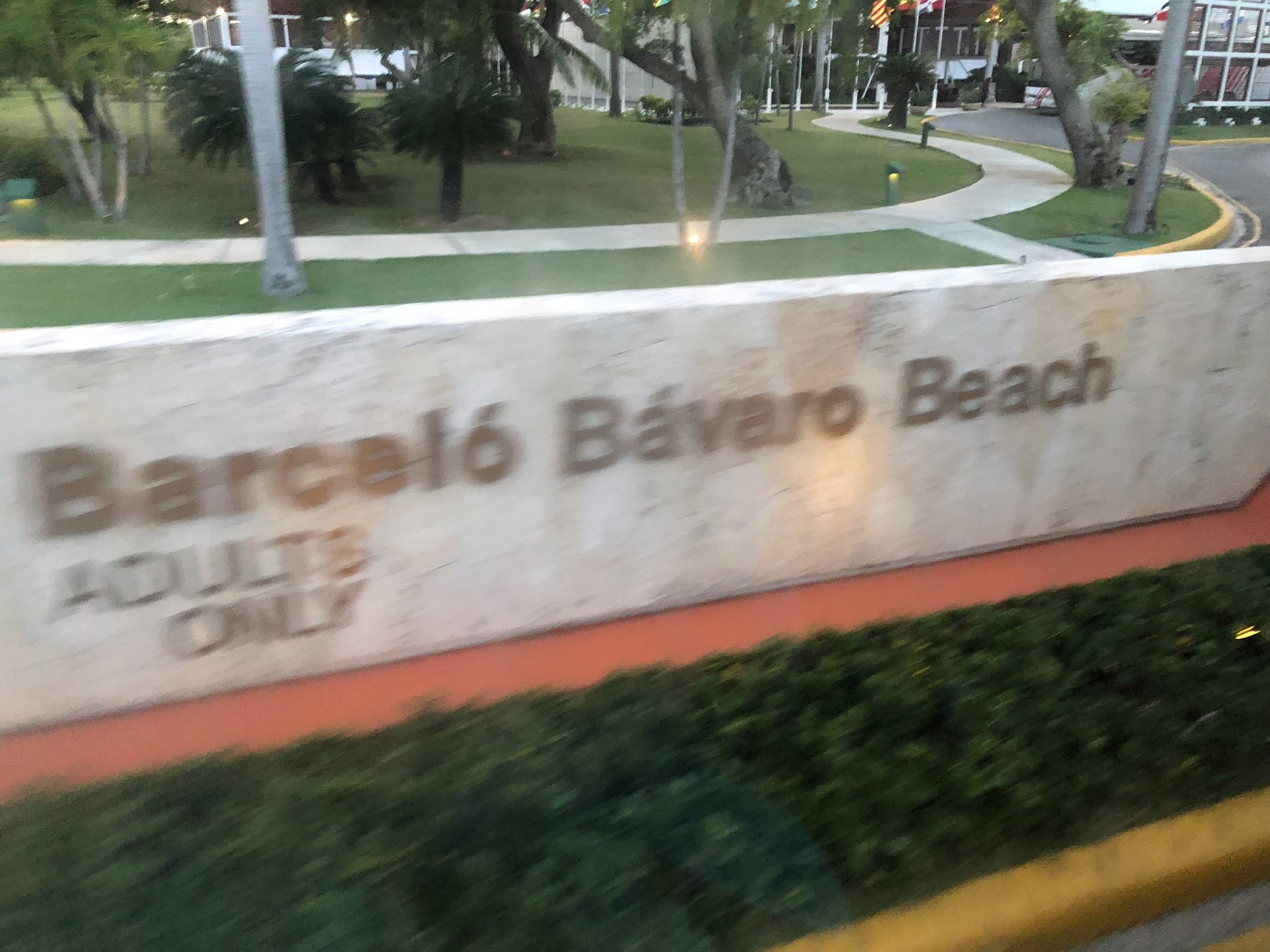 Barcelo Bavaro Beach the adults only side of the resort.