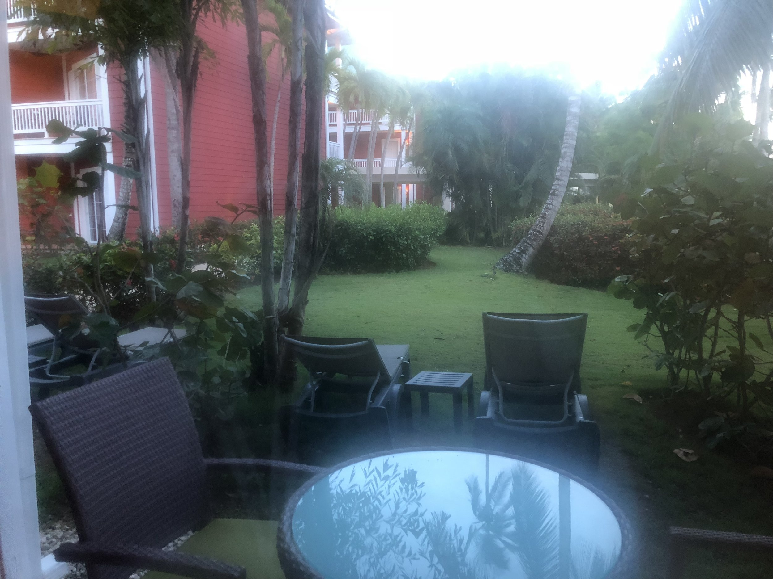 The garden view from your suite.
