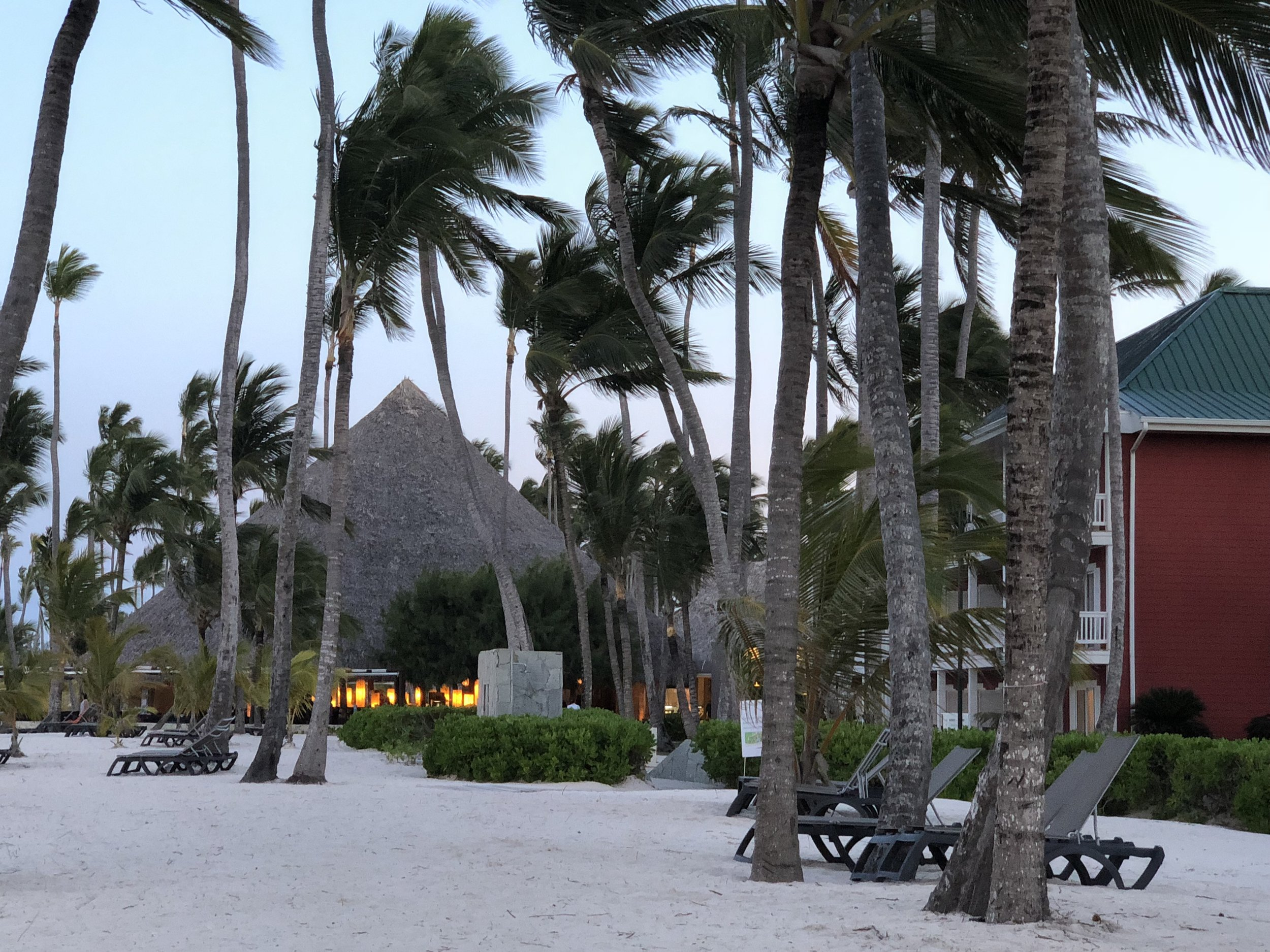 Beach side dining.