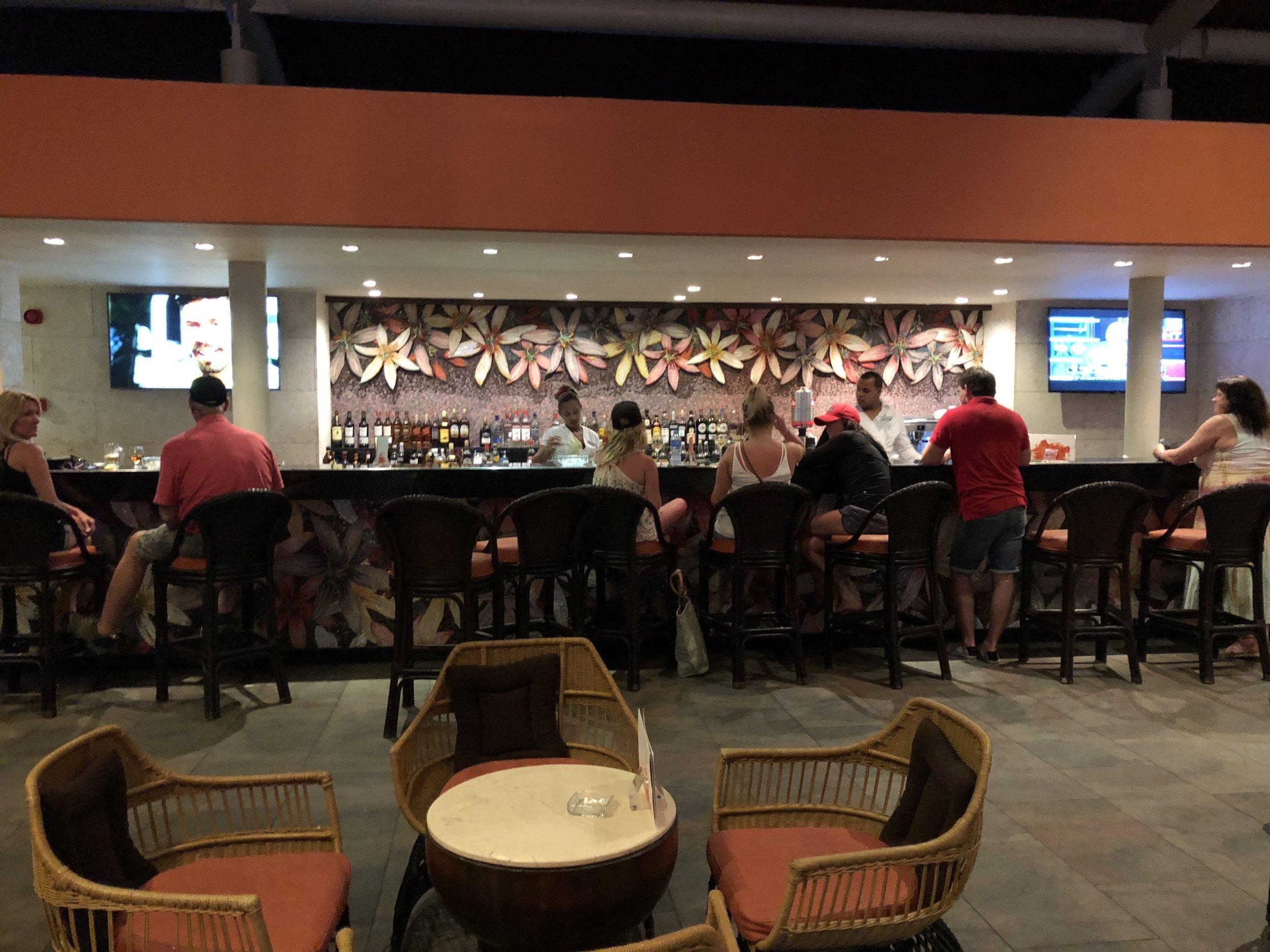 Bar located outside the main lobby.