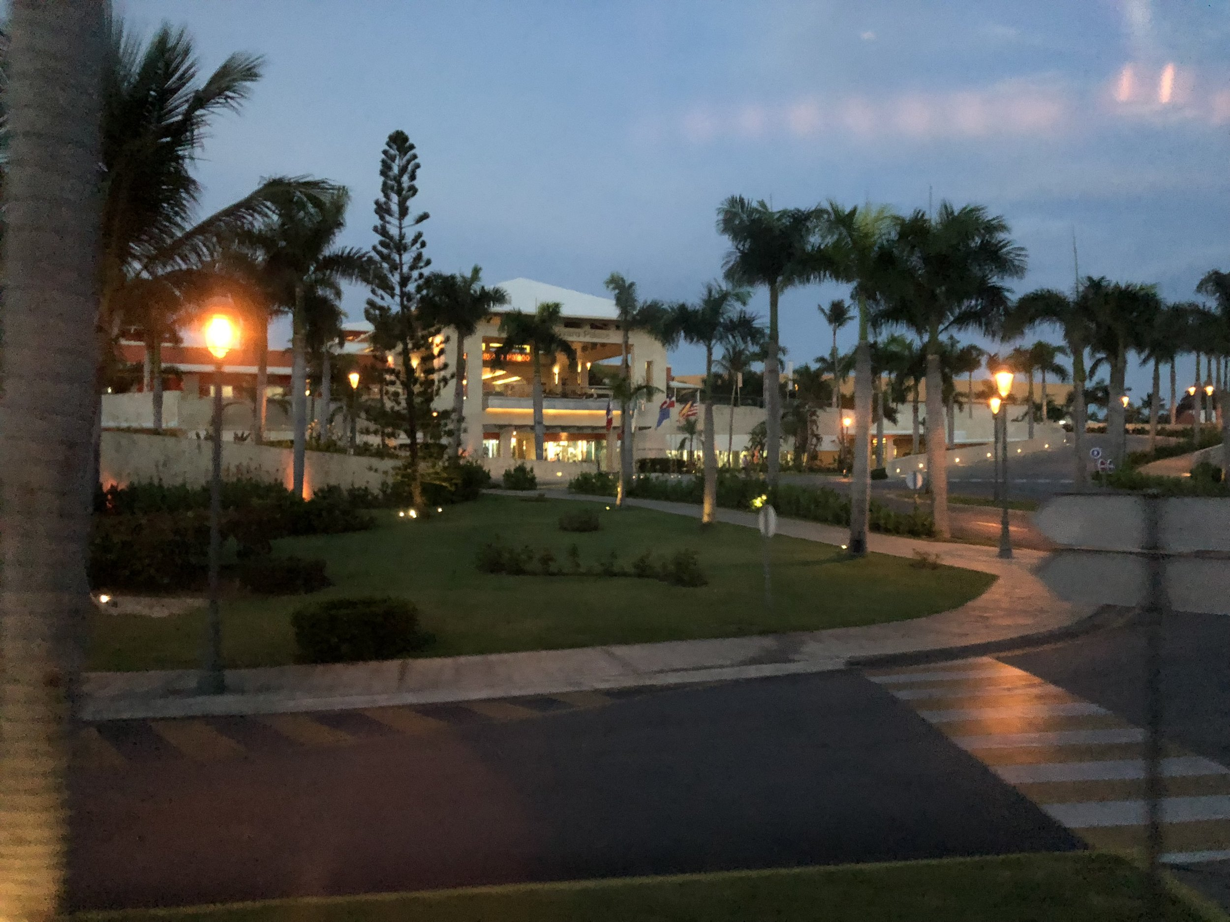 Entering the Barcelo Bavaro Palace, the family side of the resort.