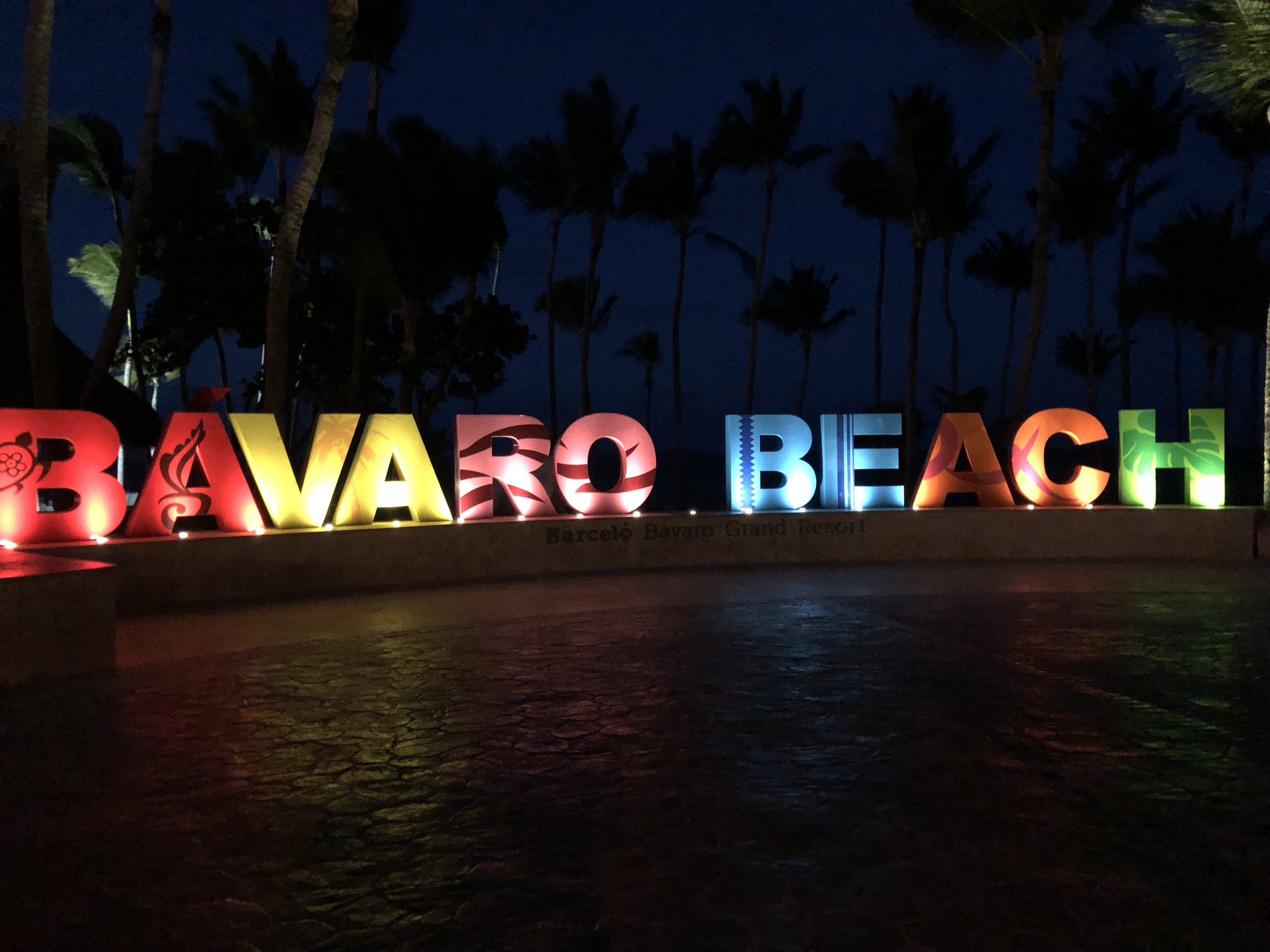 A Bavaro Beachsign at the beach front.