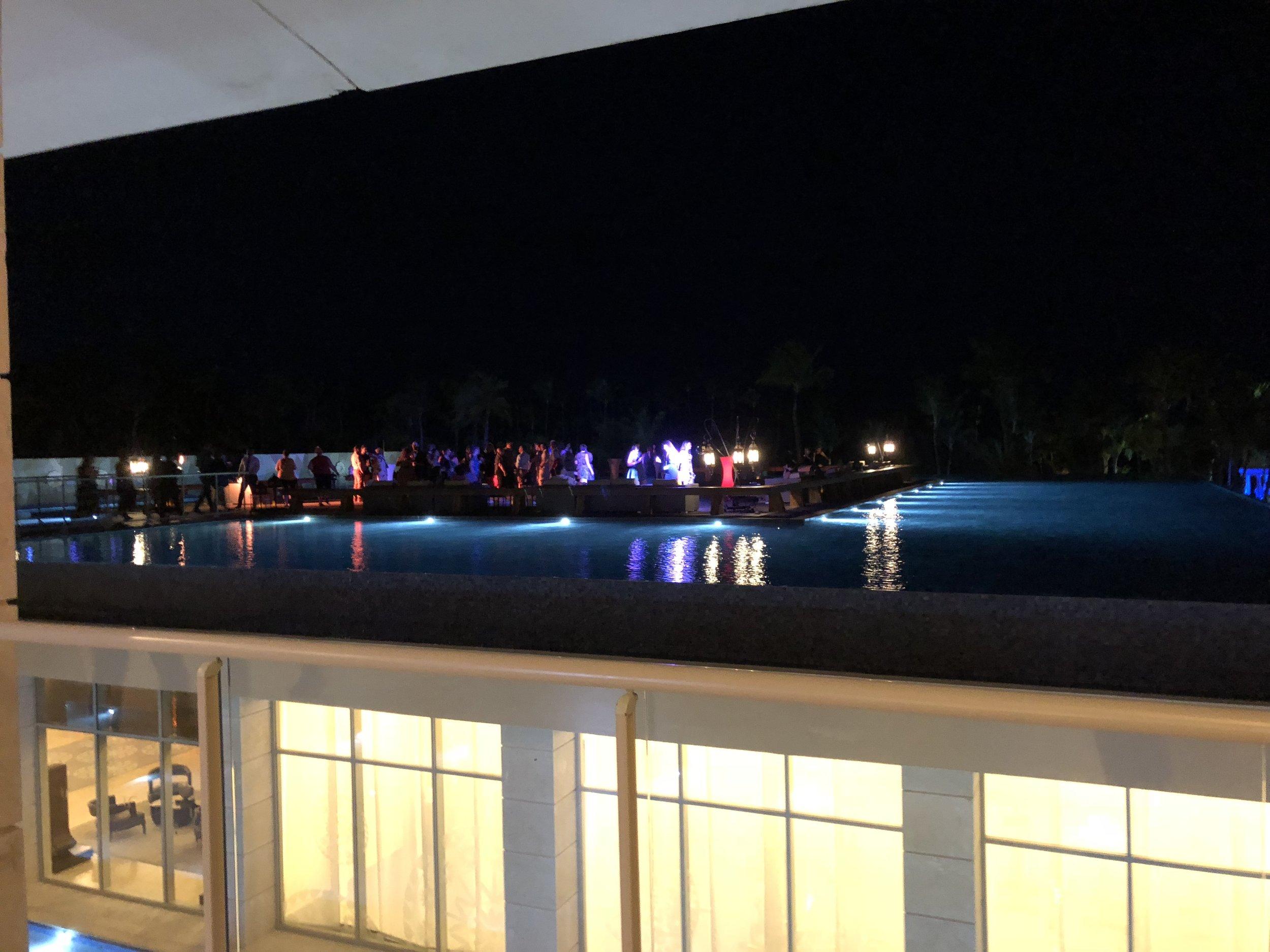 Cocktails overlooking the resort.