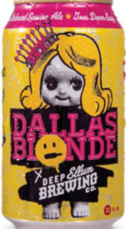 Dallas Blonde, from the Deep Ellum Brewing Company in Dallas, Texas