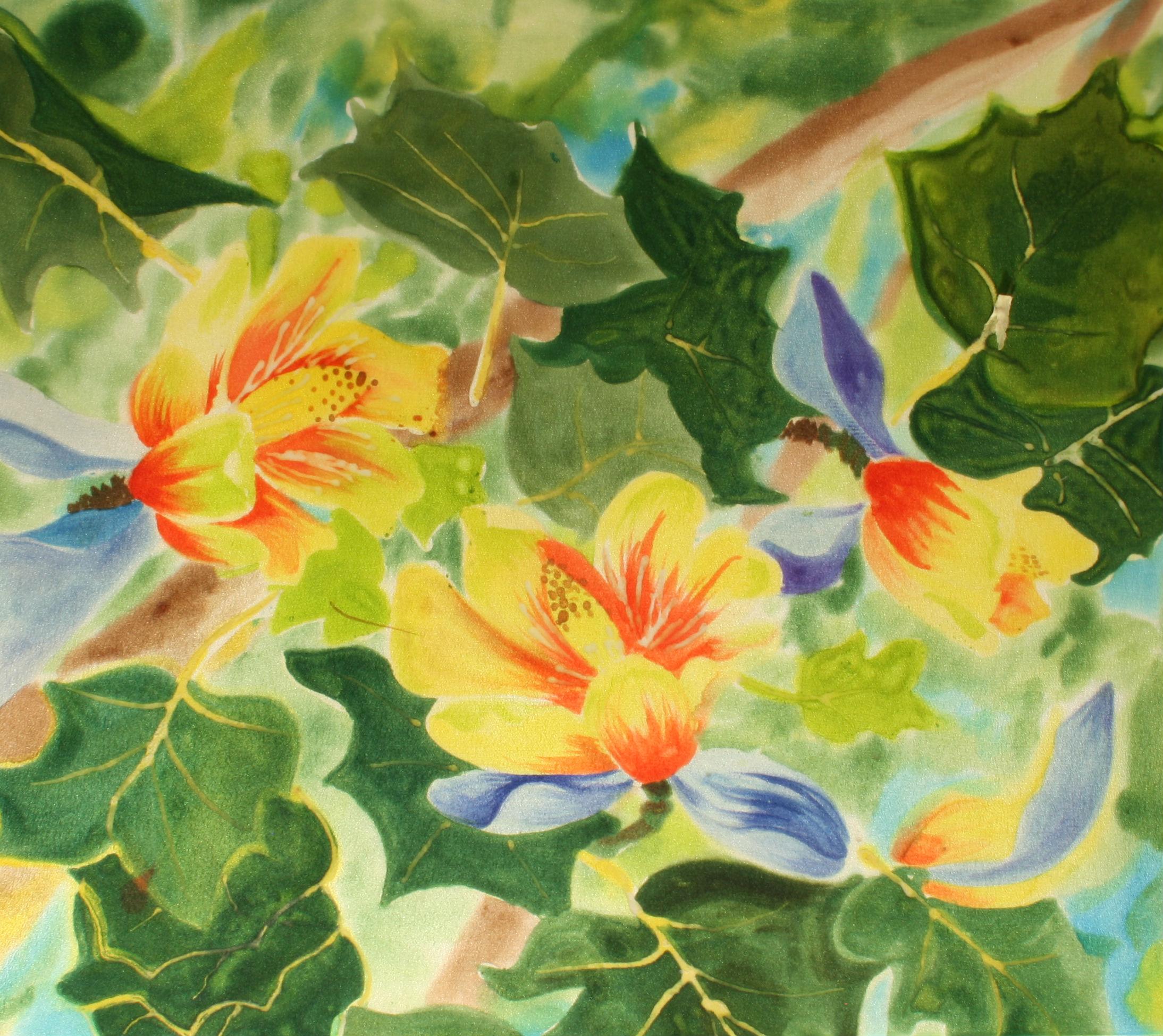 YELLOW POPLAR    16x14    $150.00 French Dyes on Silk                     BUY NOW