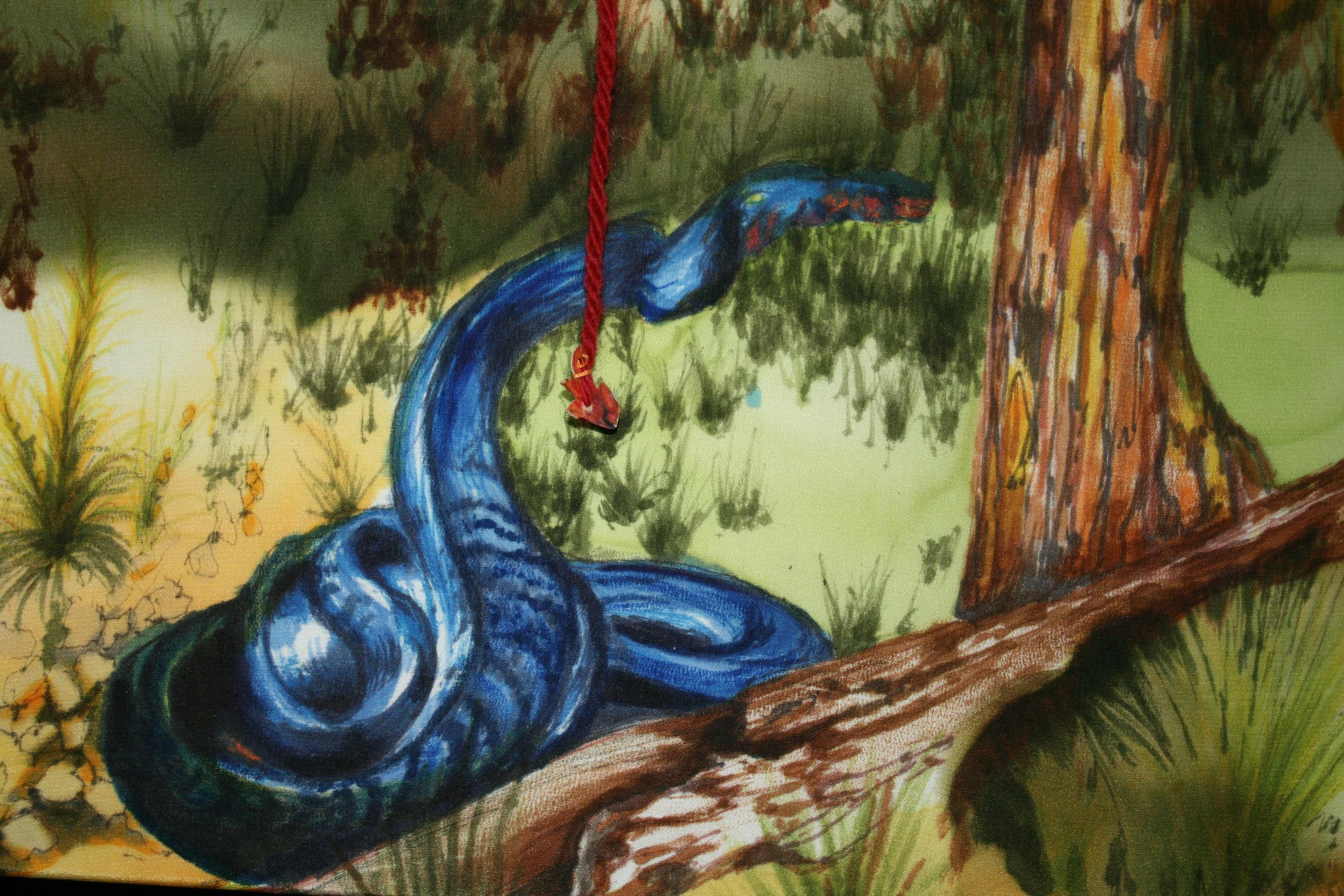 Indigo Snake indigenous only to the long leaf pine ecosystem.
