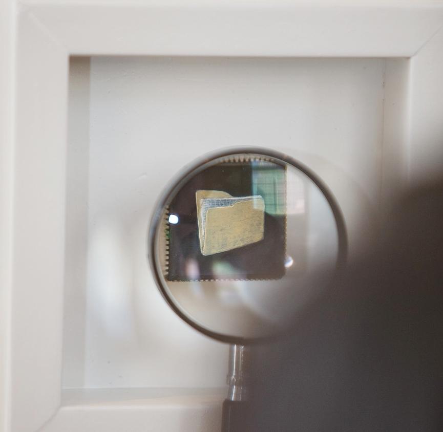 Untitled Folder , oil paint on microchip, 2 x 2 cm, 2016
