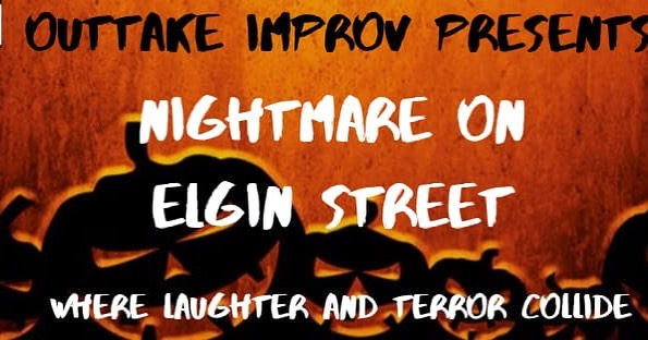 TONIGHT!!! A hilariously harrowing spooktacular, Outtake presents: Nightmare on Elgin Street! Featuring frightfully funny guests Matt Barrow and Joel Garrow!  We are making a BIG ANNOUNCEMENT at this show. See you at 7:30!  #improv #improvinottawa #ottawa #ottawaimprov