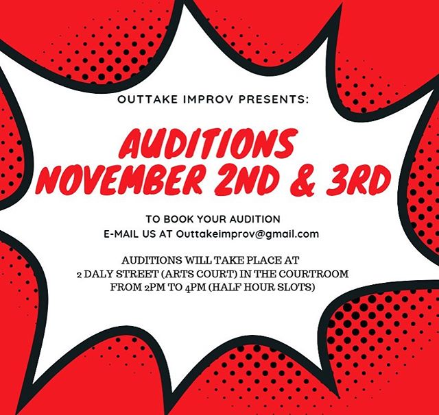 COME PLAY WITH US! #improv #improvottawa #auditions #ottawaevents #outtakeimprov #ottawaauditions