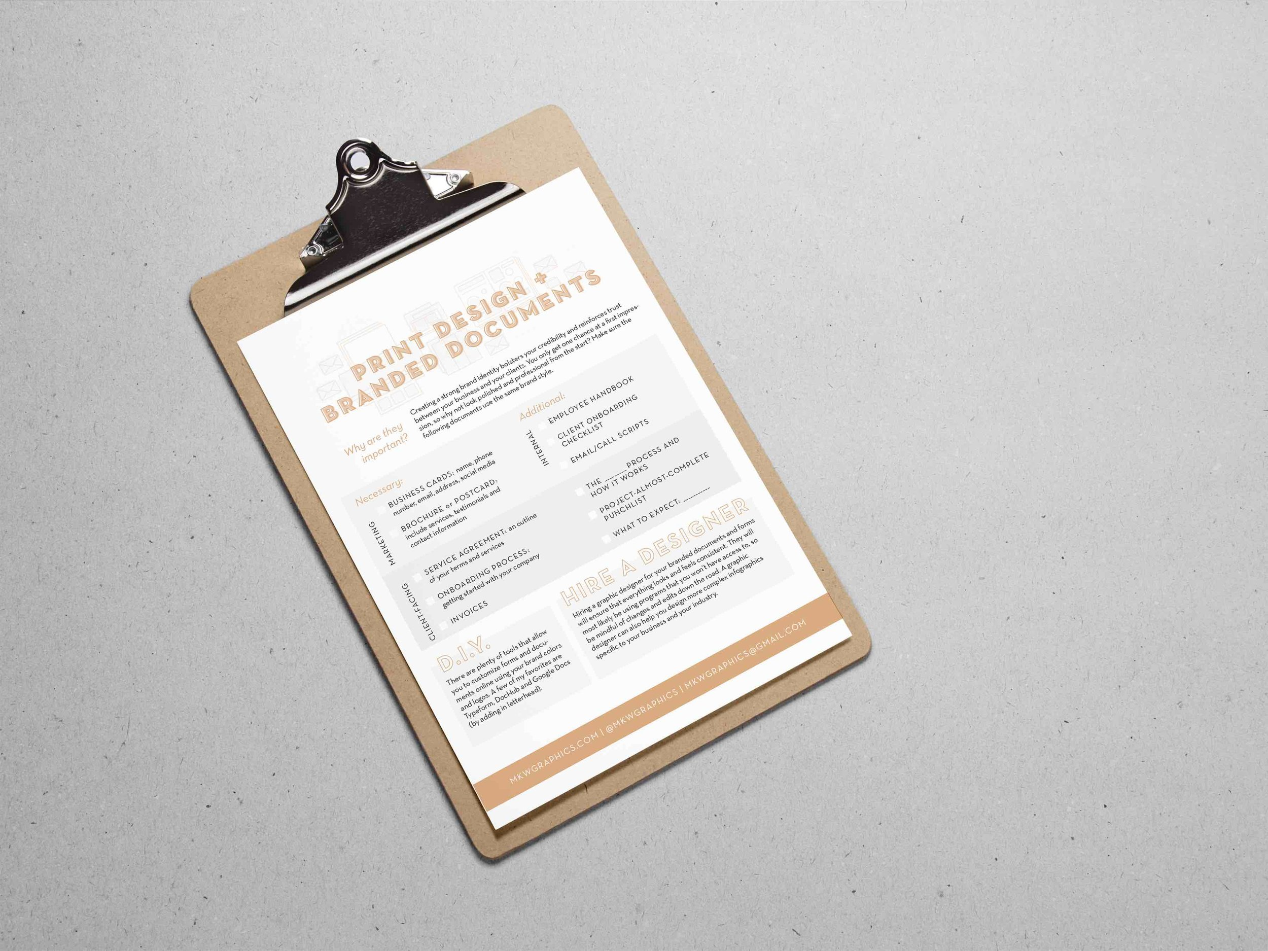 free branded document guides