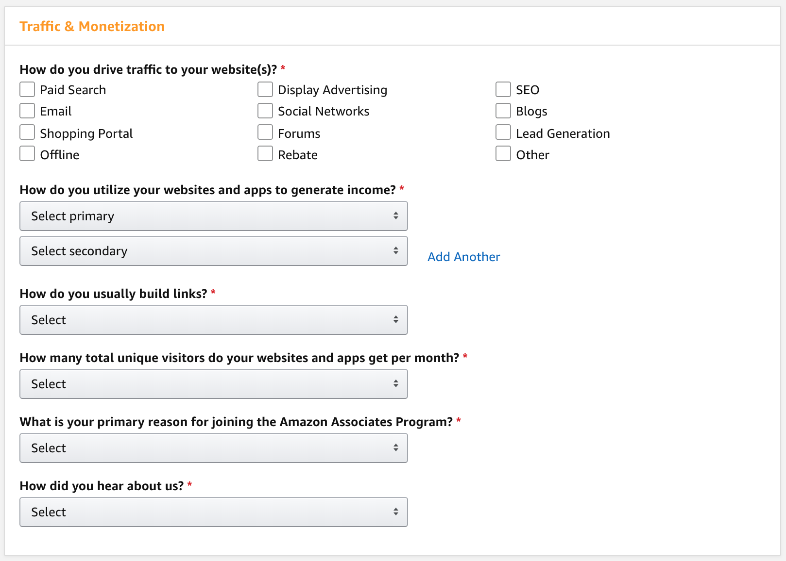 how to start with amazon affiliates